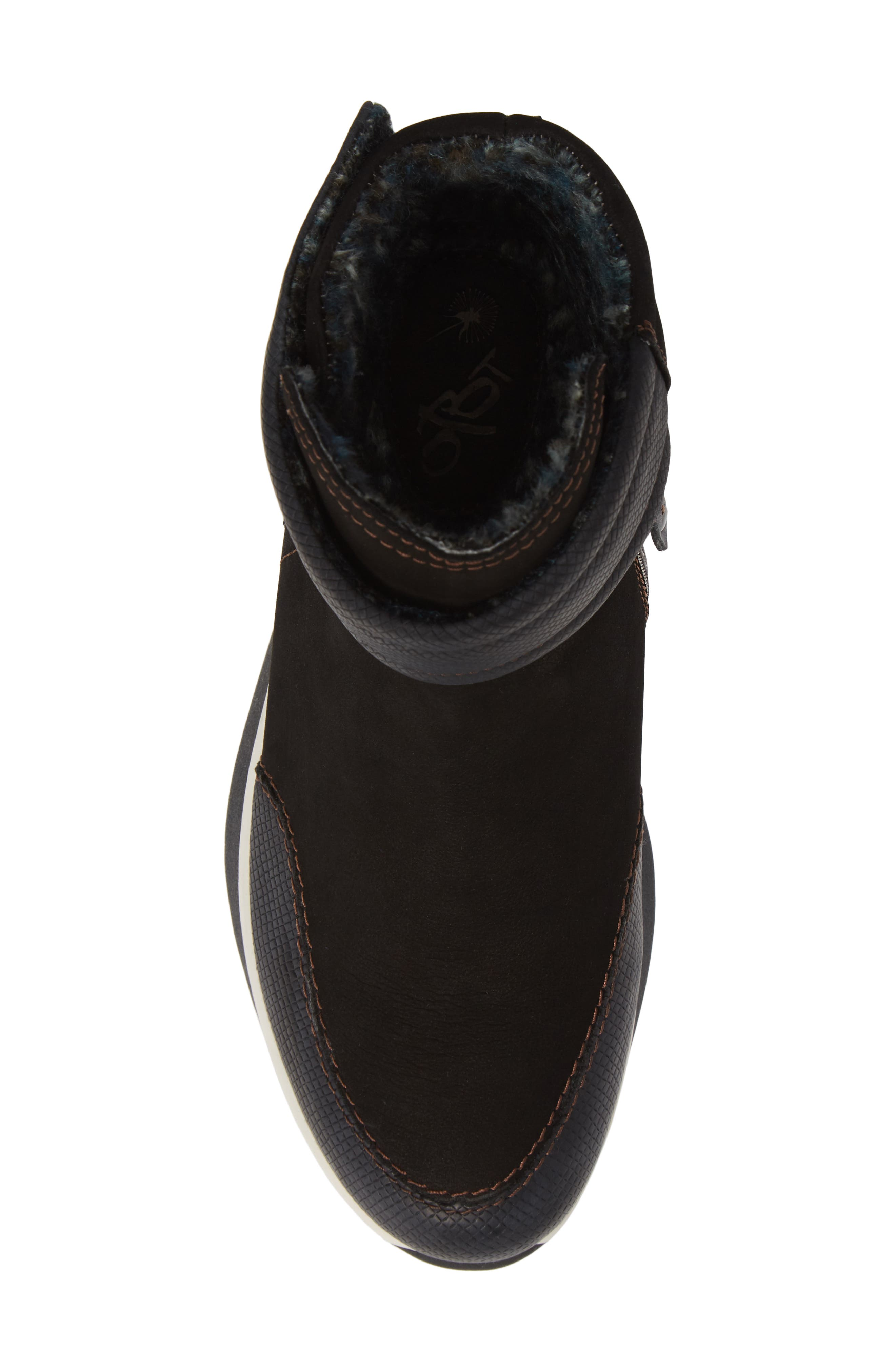 Outing Bootie,                             Alternate thumbnail 5, color,                             BLACK LEATHER