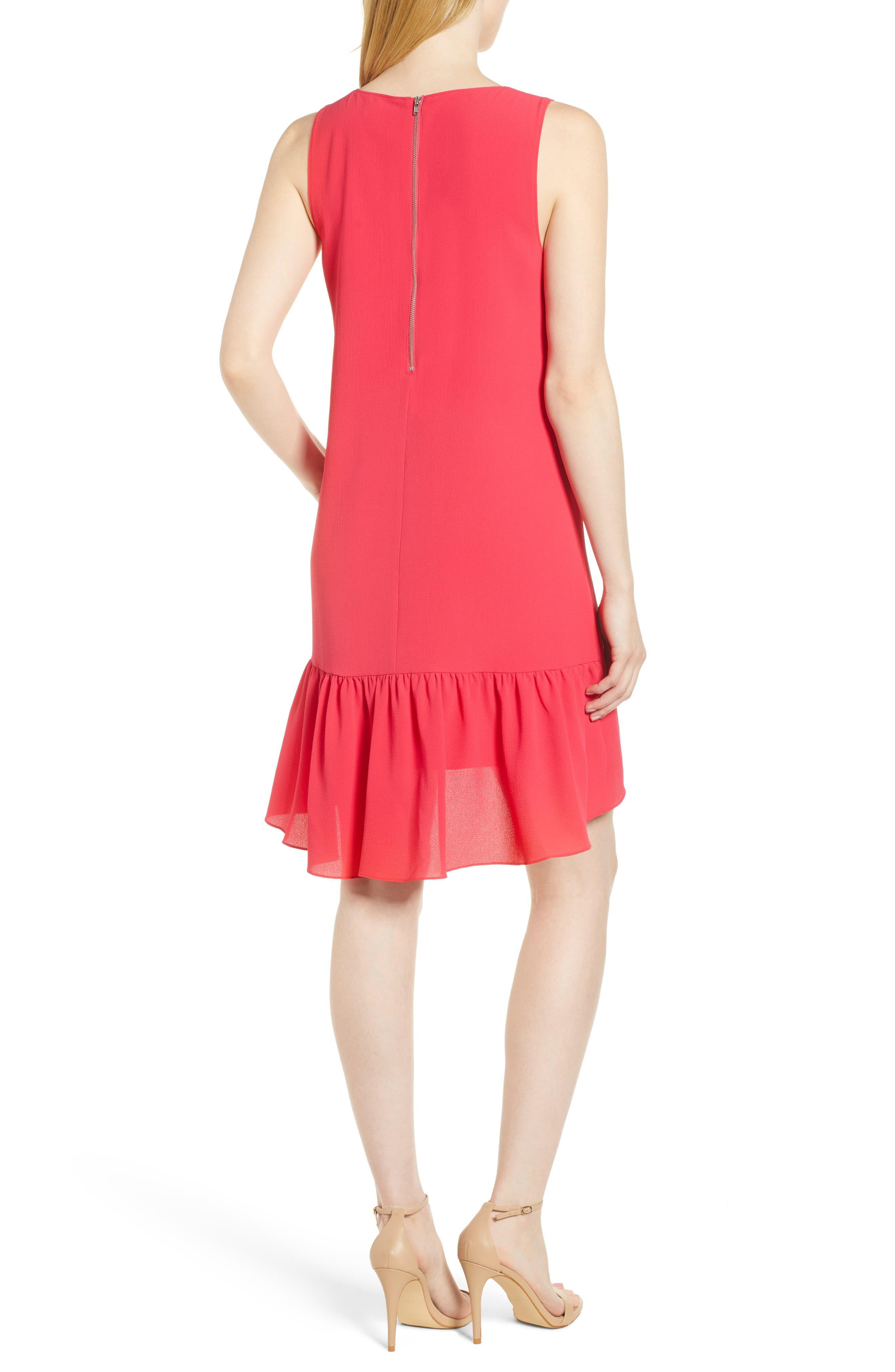 Zipper Back Ruffle Dress,                             Alternate thumbnail 7, color,