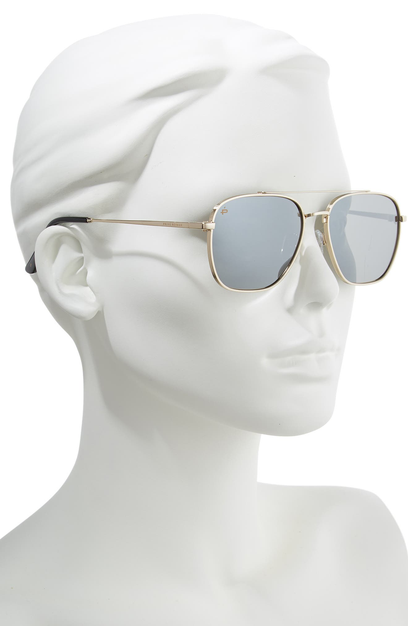 The Floridian Polarized 57mm Sunglasses,                             Alternate thumbnail 2, color,                             001