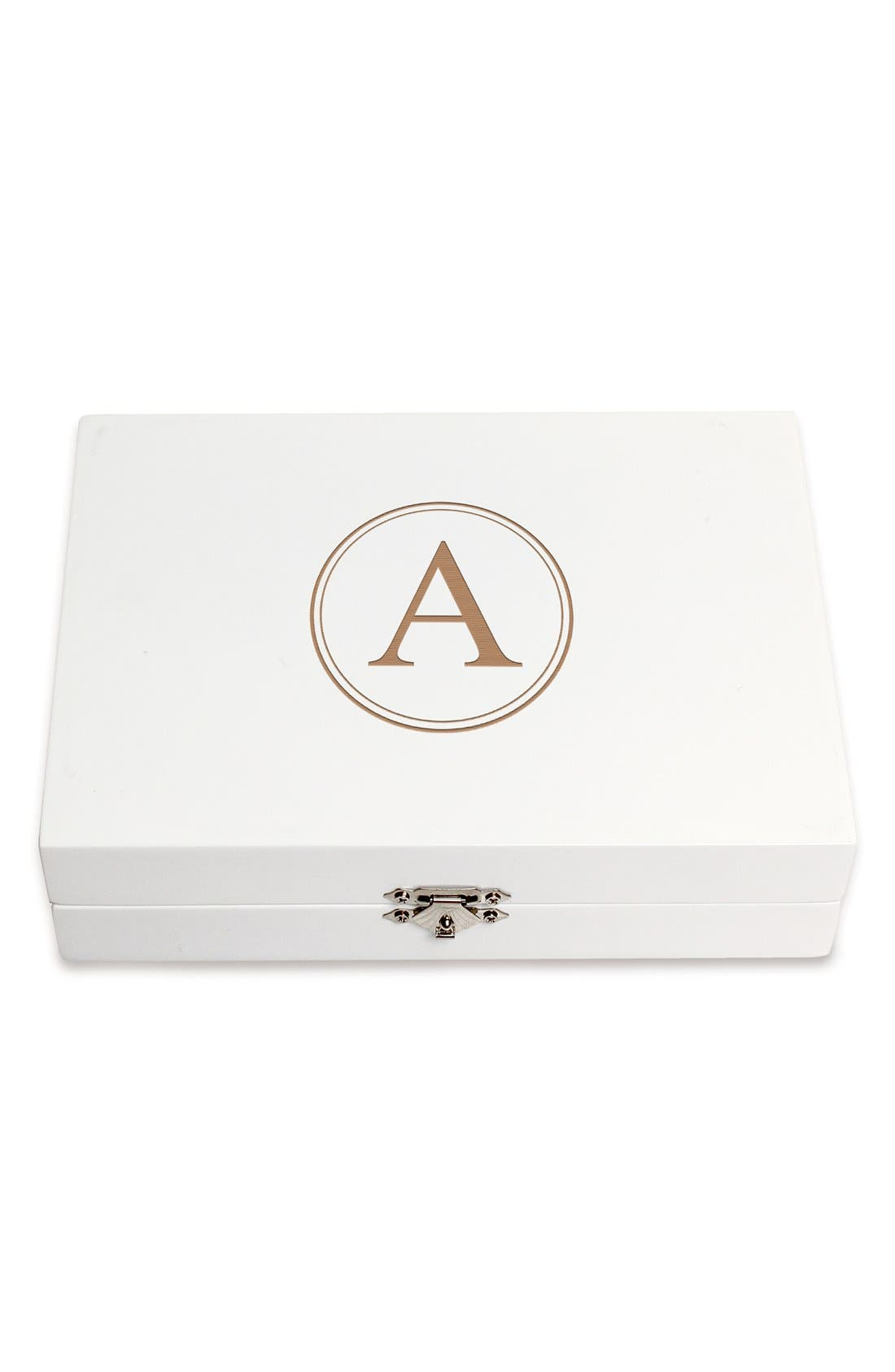 Monogram Wooden Jewelry Box,                             Main thumbnail 30, color,
