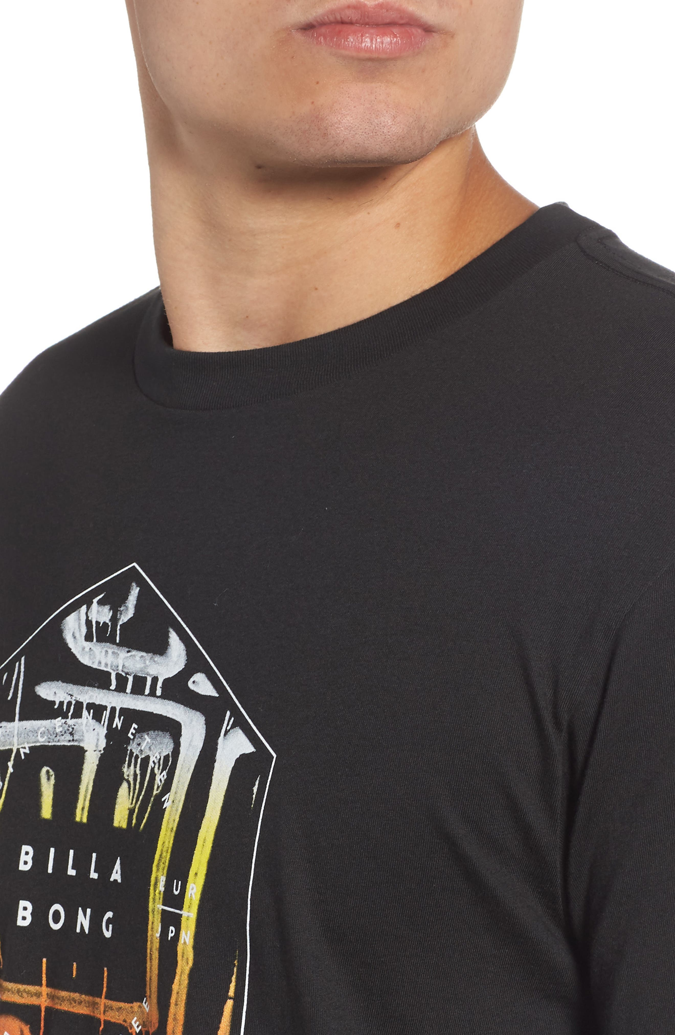 Access Graphic T-Shirt,                             Alternate thumbnail 4, color,                             BLACK