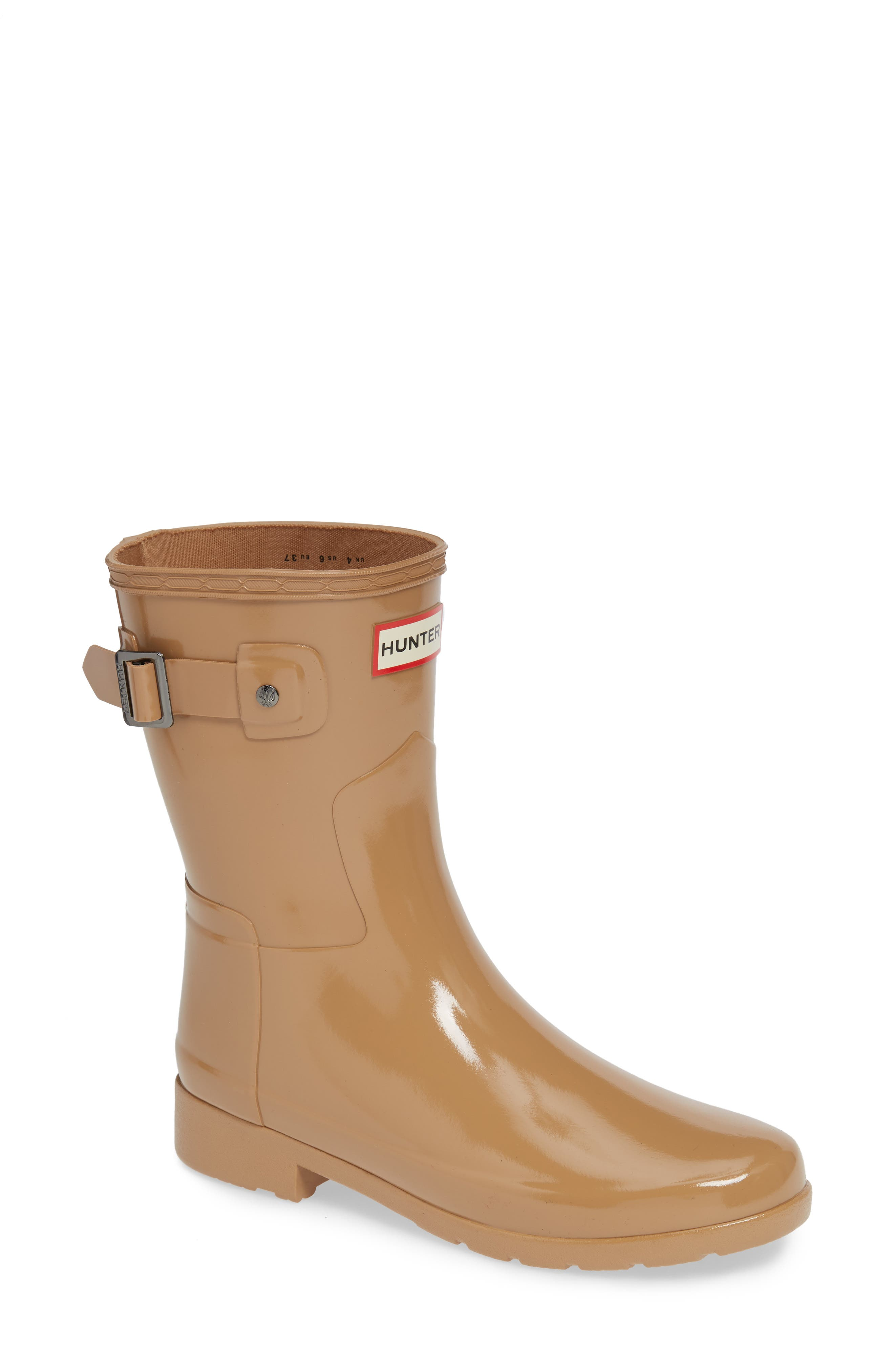Refined Short Gloss Rain Boot,                             Main thumbnail 1, color,                             200