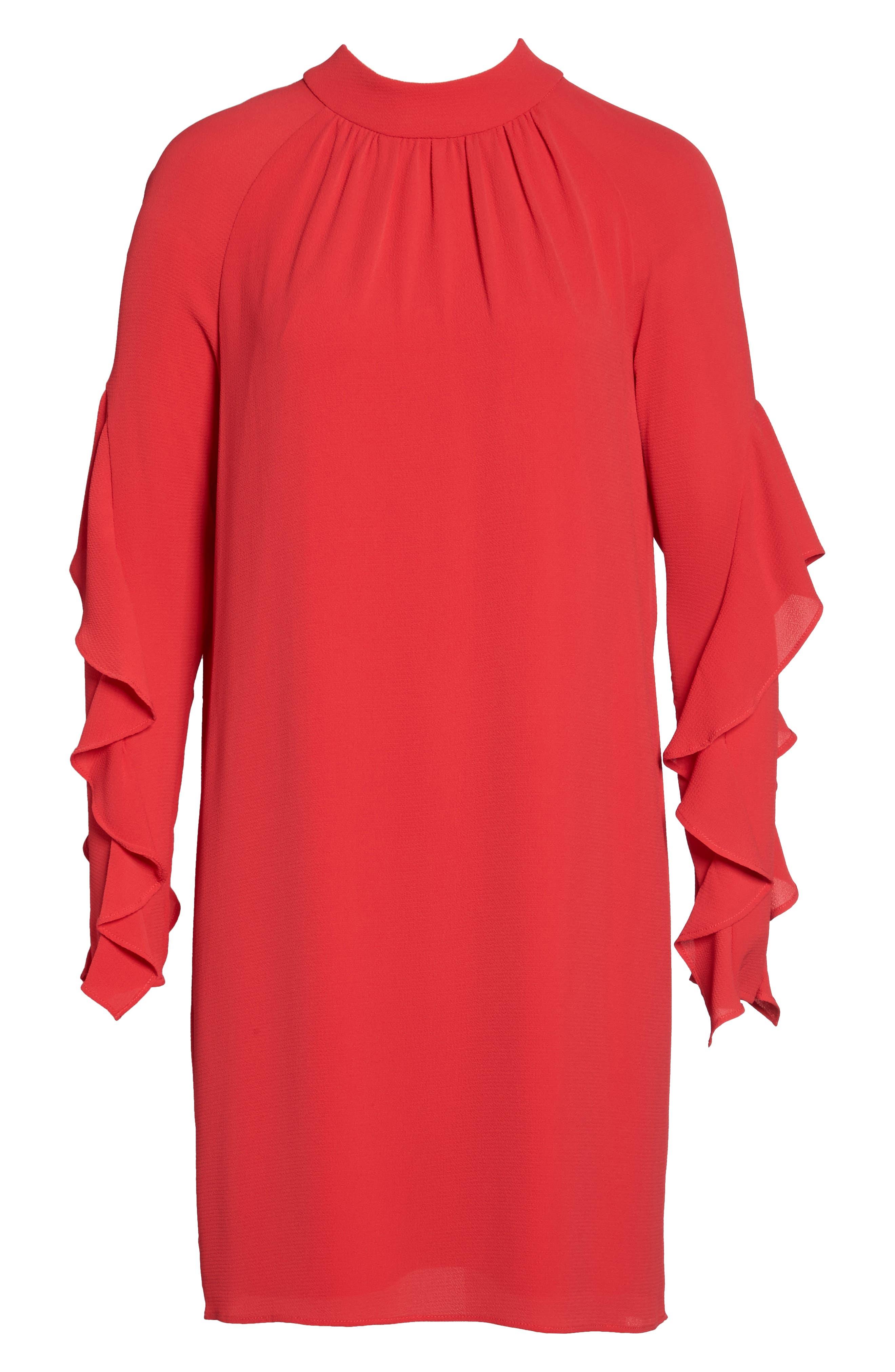 Catalina Ruffle Sleeve Dress,                             Alternate thumbnail 6, color,                             648