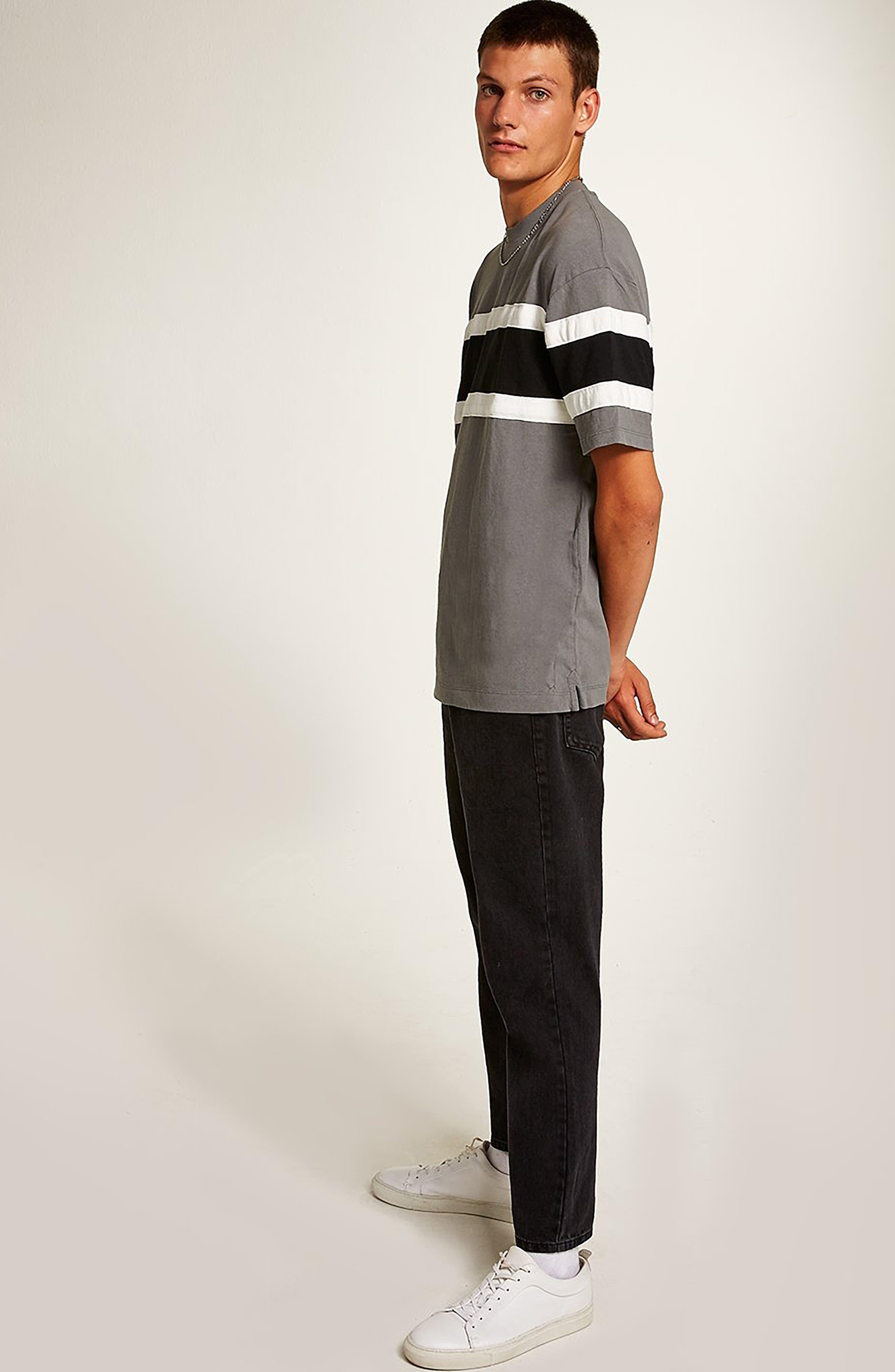 Oversize Colorblock T-Shirt,                             Alternate thumbnail 5, color,                             BLACK MULTI
