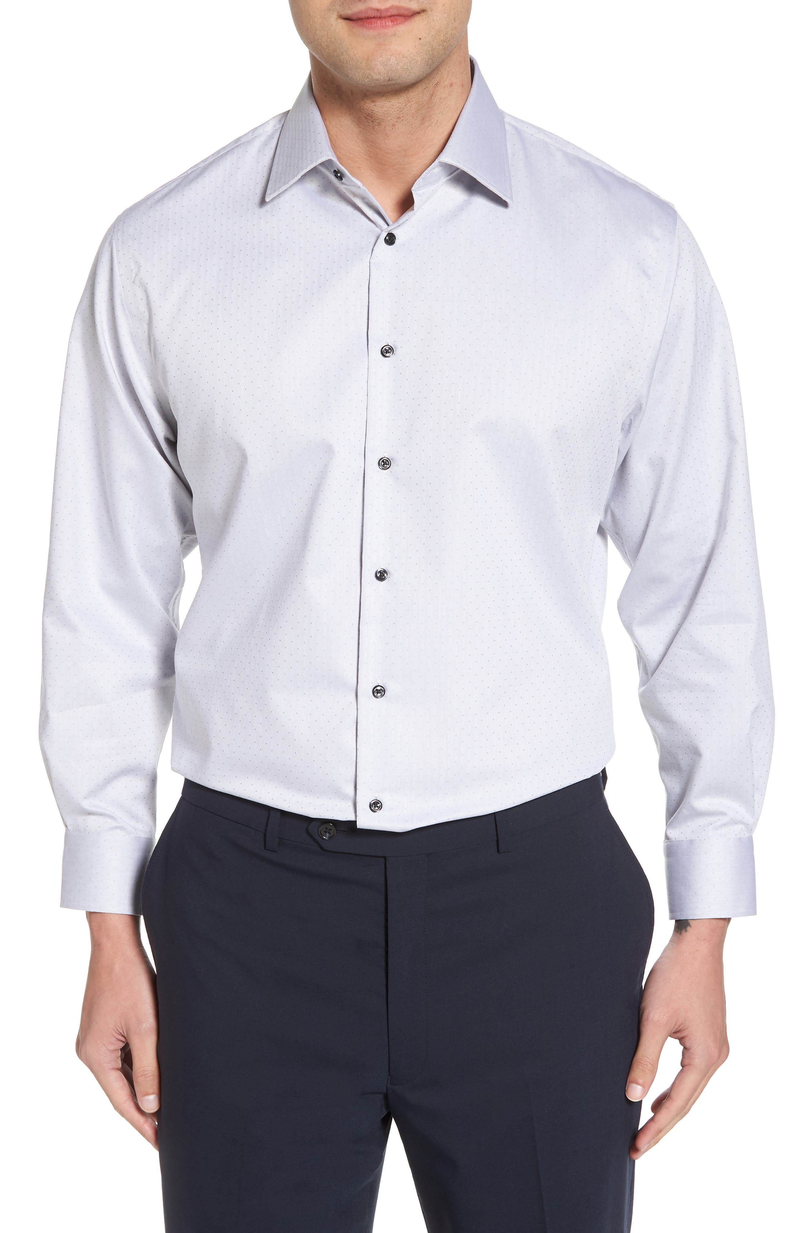 Traditional Fit Non-Iron Dress Shirt,                             Main thumbnail 1, color,                             020