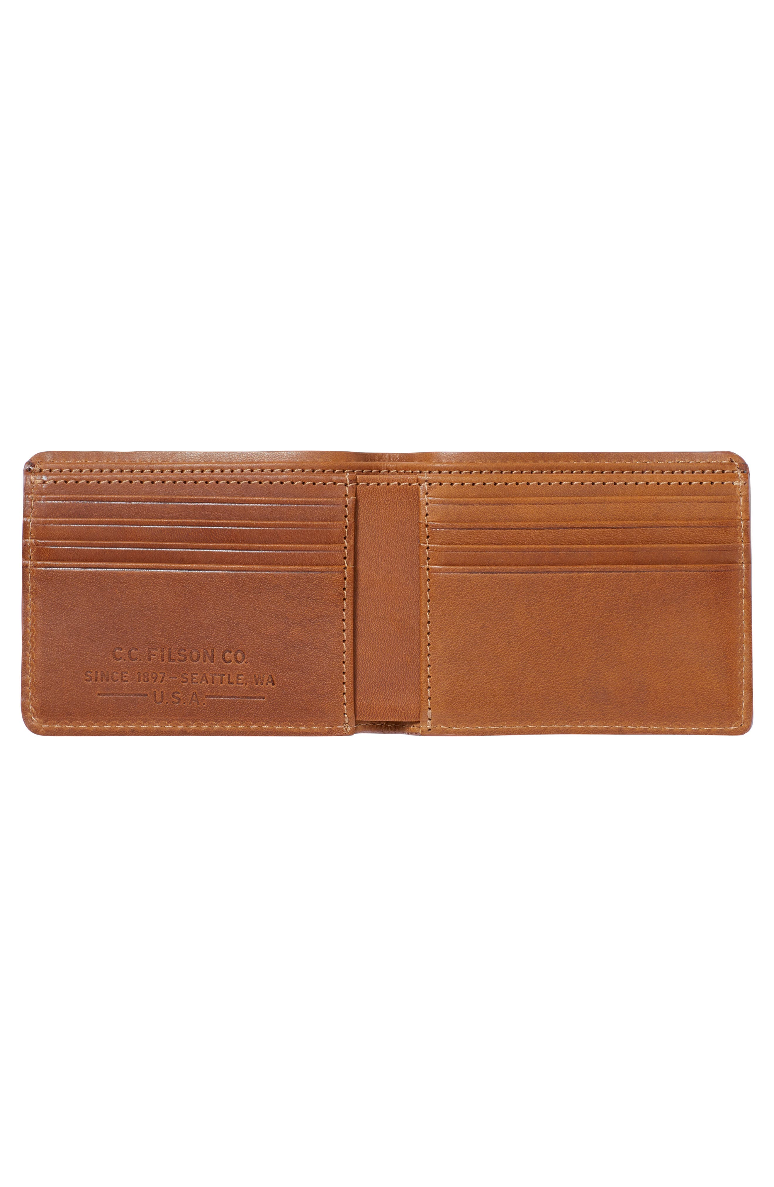 Outfitter Leather & Canvas Bifold Wallet,                             Alternate thumbnail 2, color,                             TAN