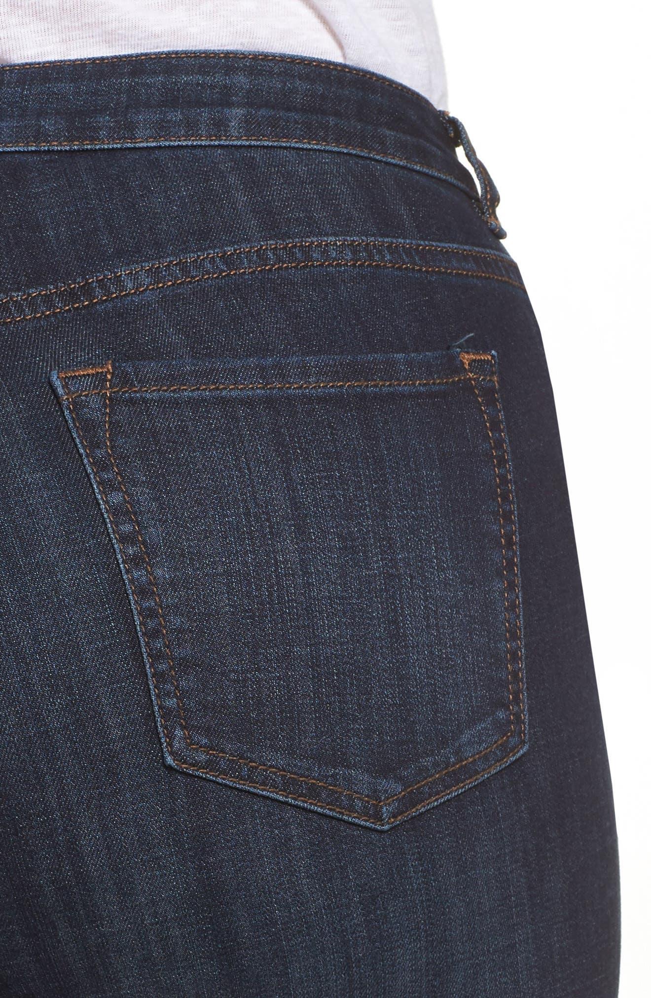 Wide Leg Crop Jeans,                             Alternate thumbnail 7, color,