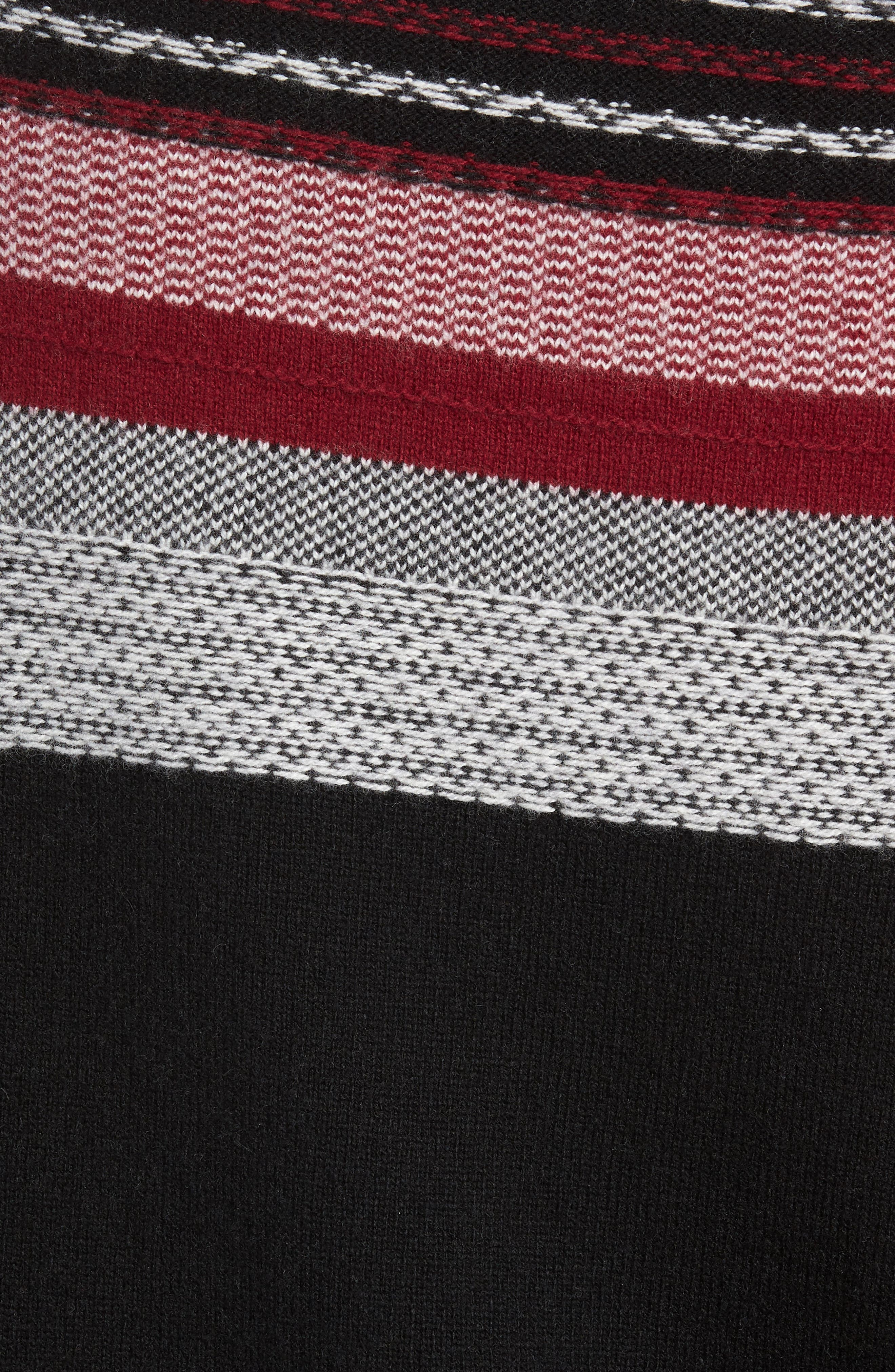 Fair Isle Sweater,                             Alternate thumbnail 5, color,                             BLACK/ RED COMBO