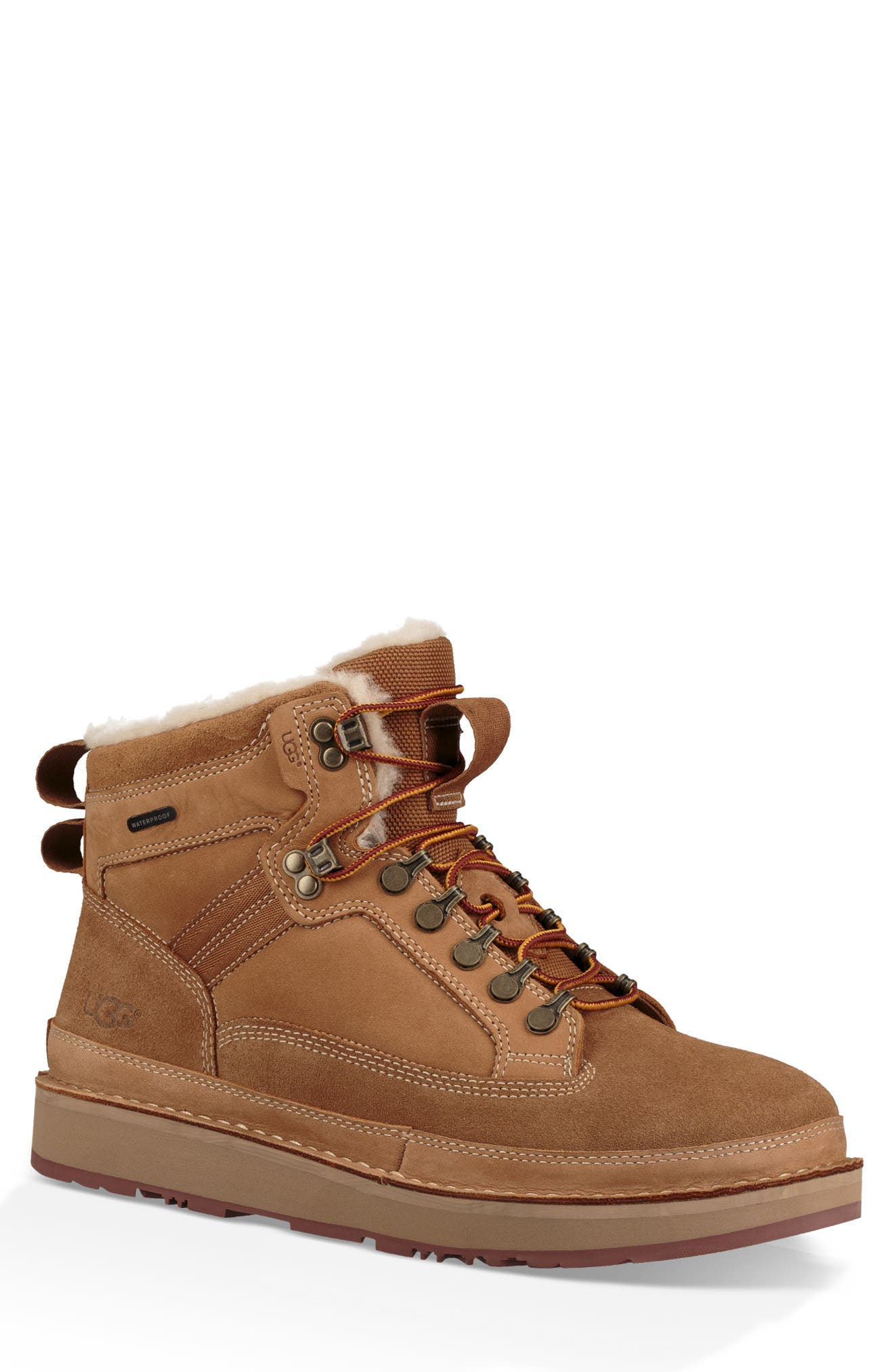 Avalanche Hiker Suede & Shearling Boots in Chestnut