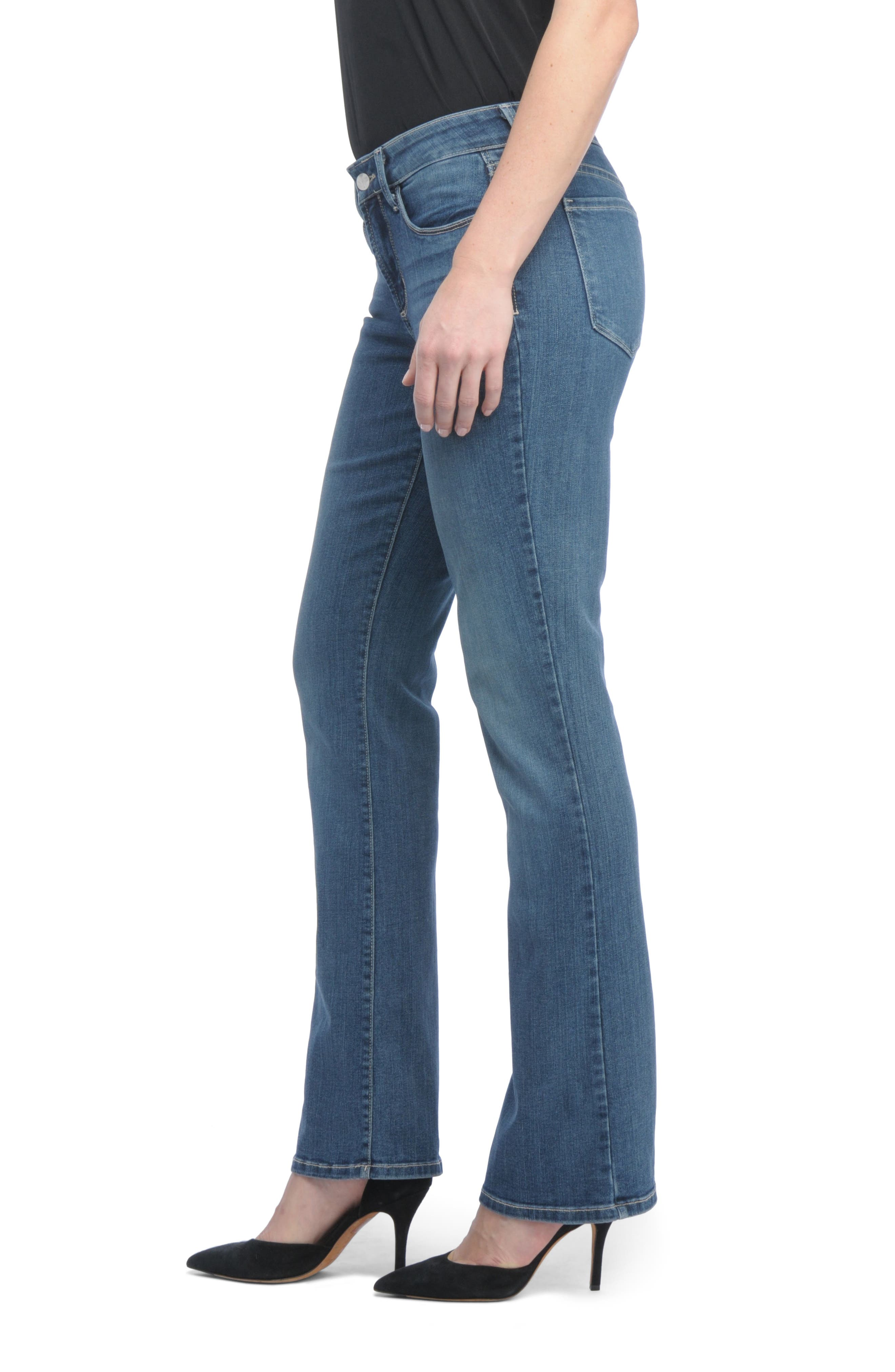 Barbara Bootcut Short Jeans,                             Alternate thumbnail 3, color,                             421