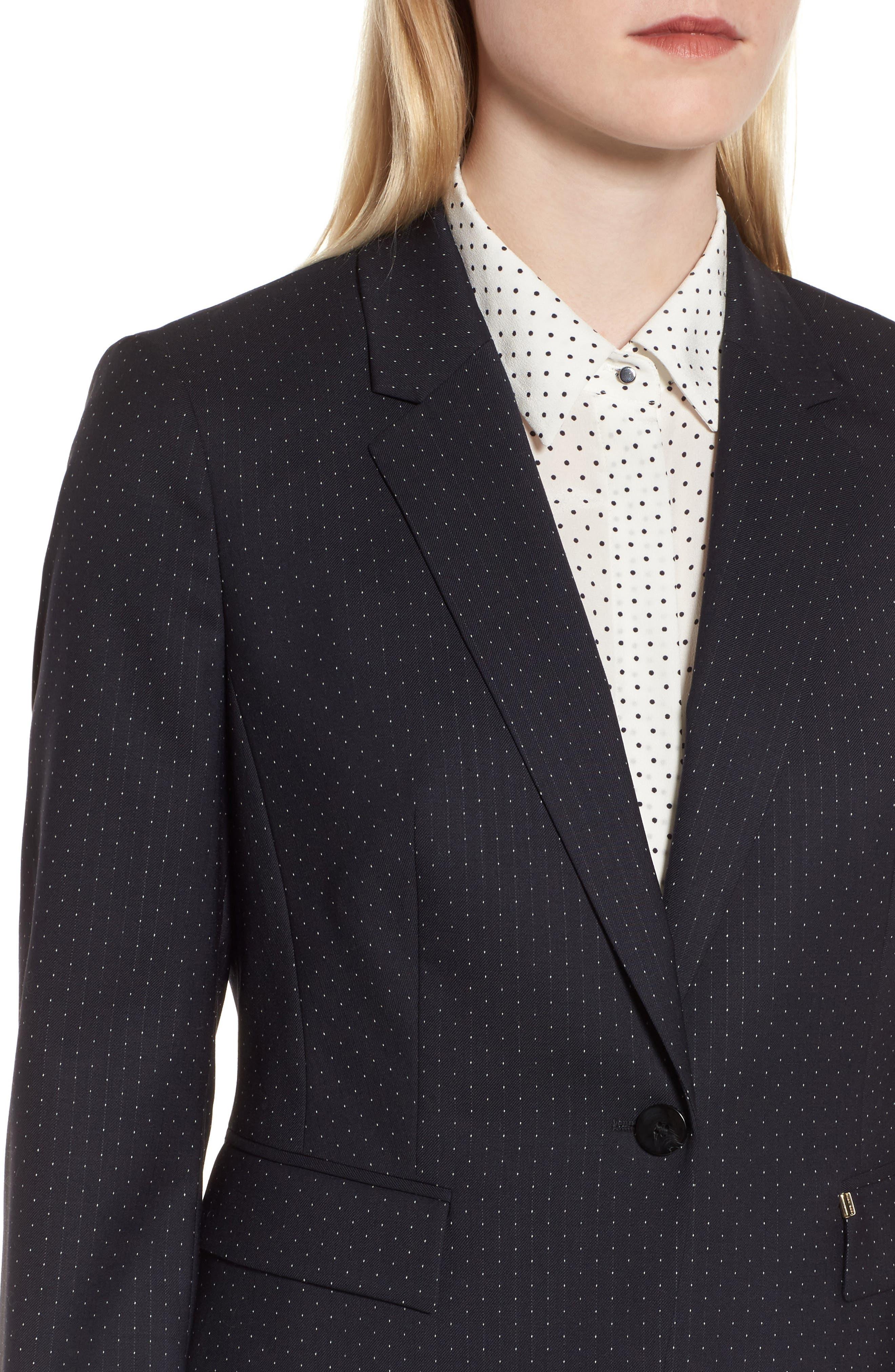 Jinalika Wool Suit Jacket,                             Alternate thumbnail 4, color,