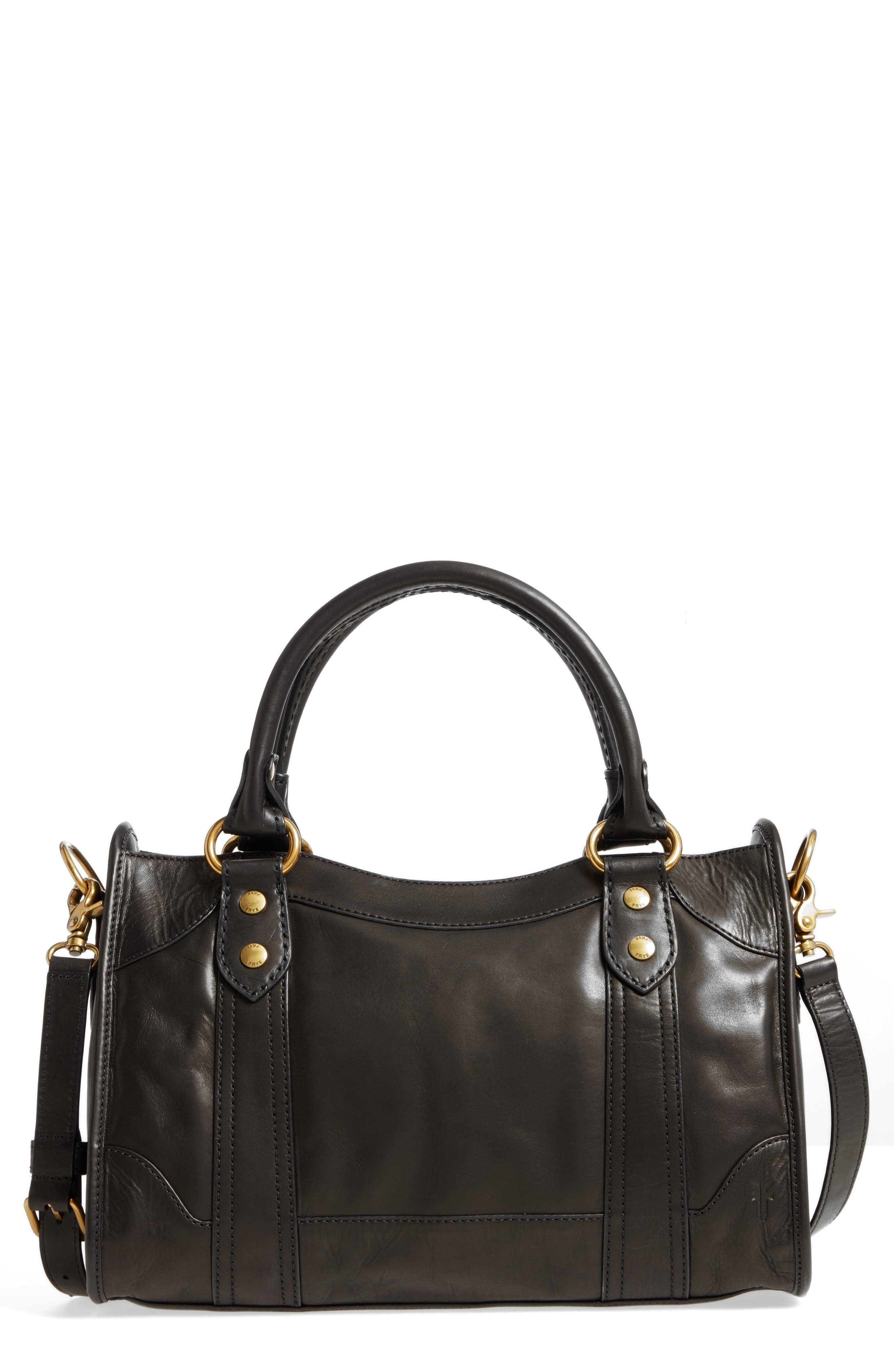 Melissa Leather Satchel,                         Main,                         color, 001