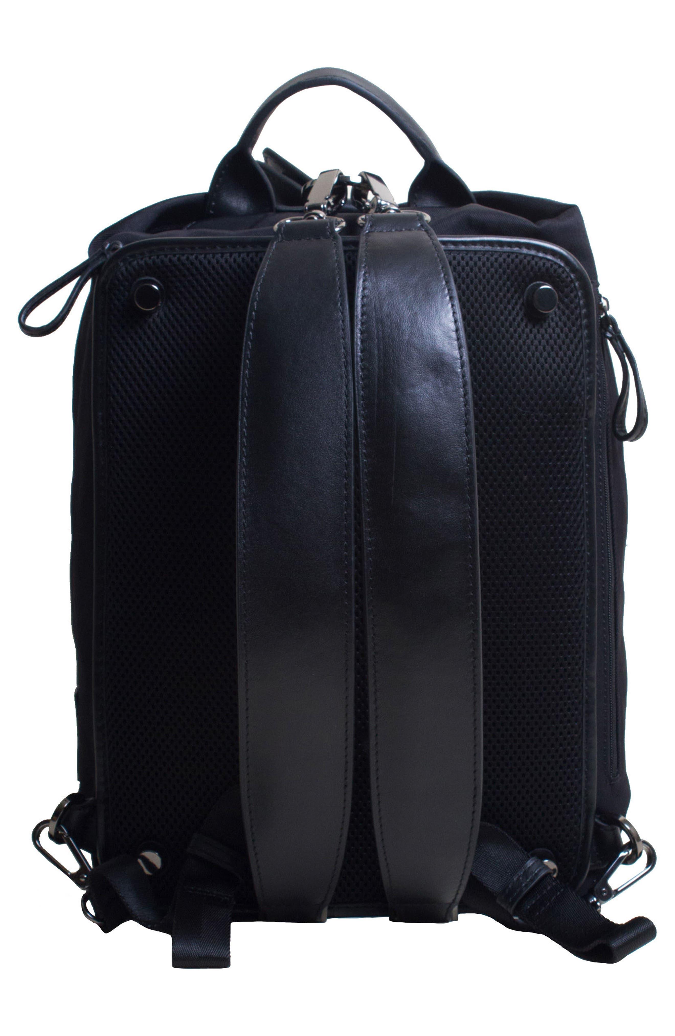 Studio Medium Duffel Backpack,                             Alternate thumbnail 3, color,                             BLACK