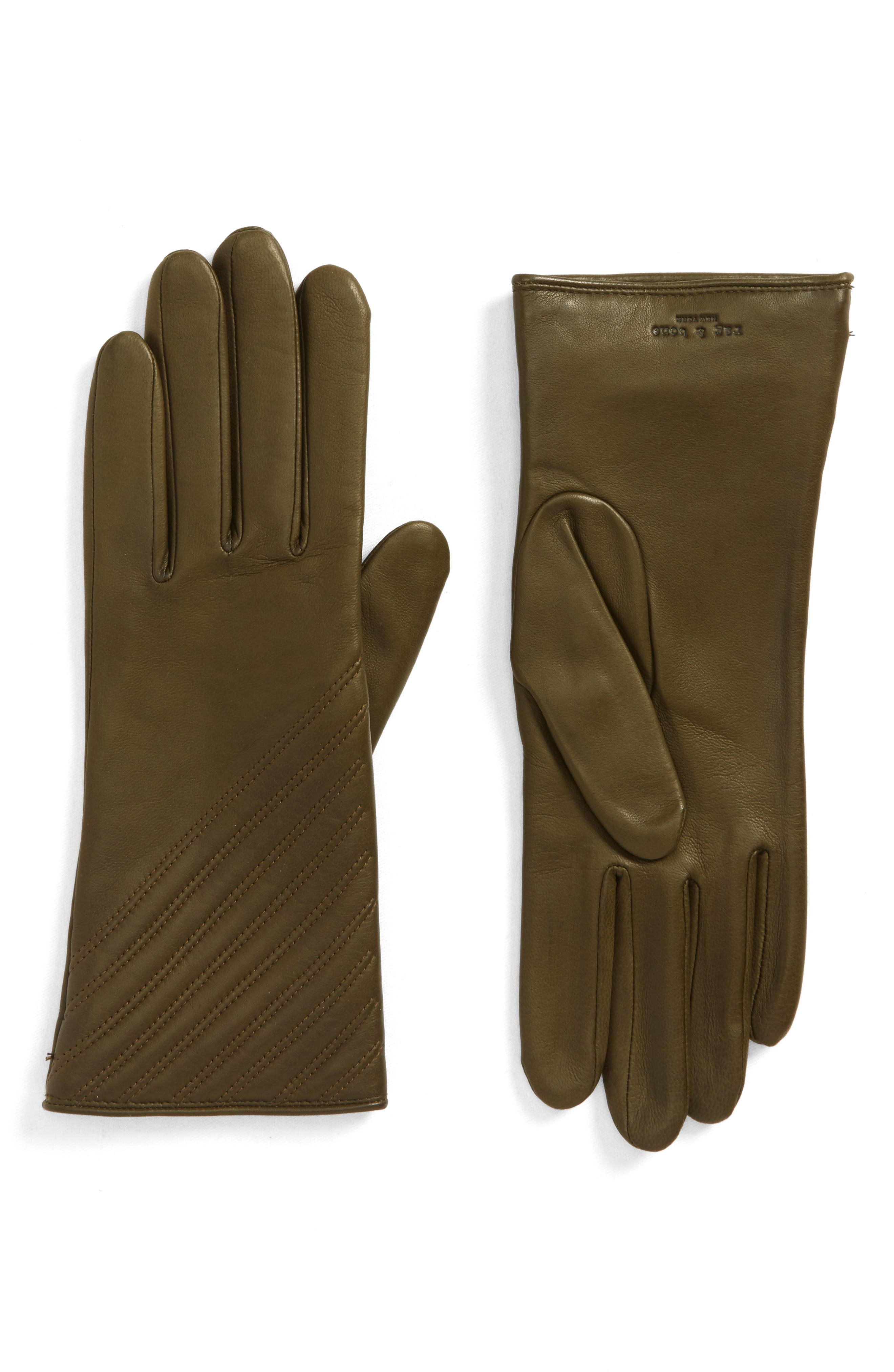 Slant Leather Gloves,                             Main thumbnail 2, color,