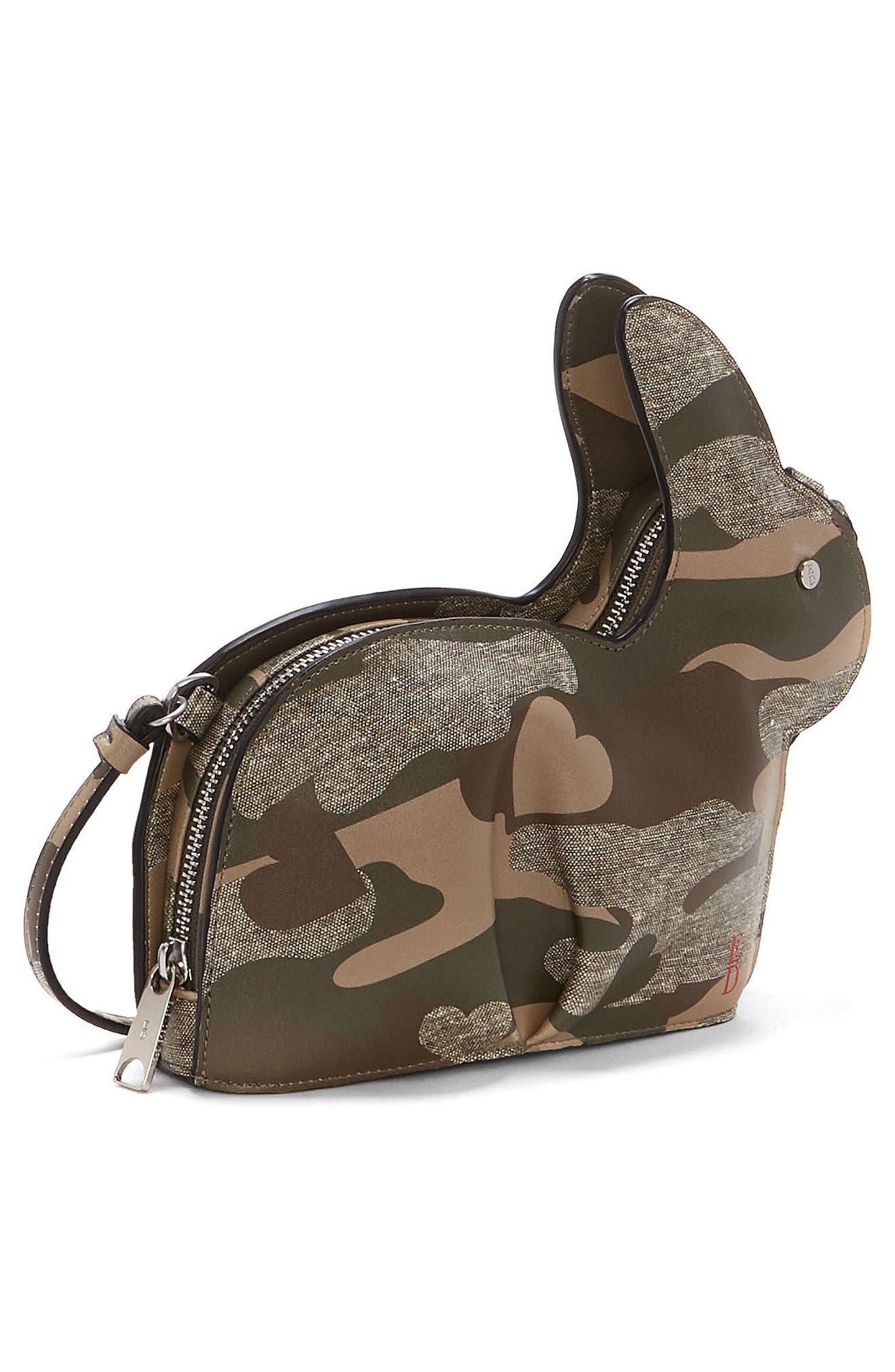 Carot Faux Leather Crossbody Bag,                             Alternate thumbnail 4, color,                             300