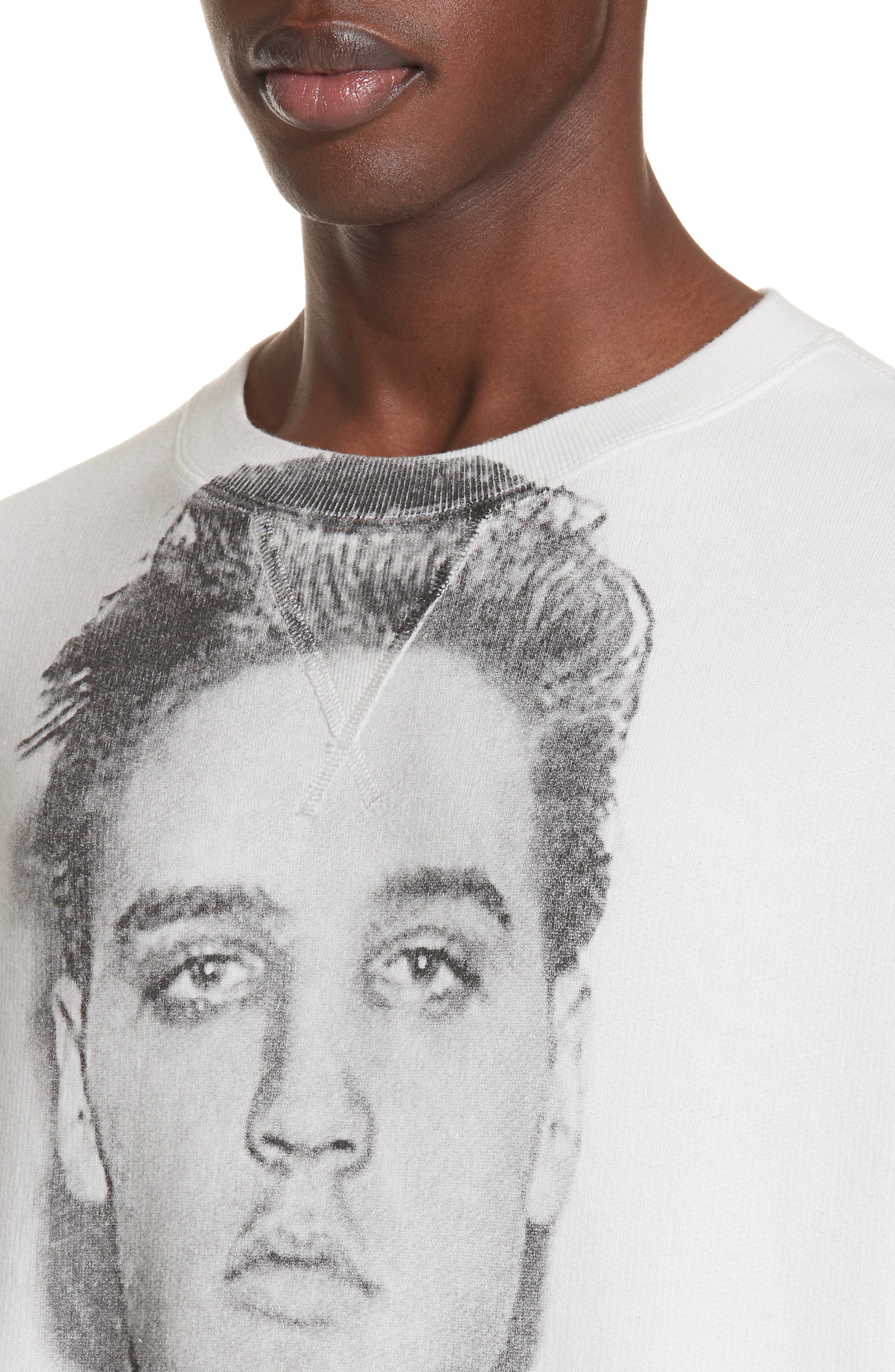 Elvis Mug Shot Sweatshirt,                             Alternate thumbnail 4, color,                             WHITE