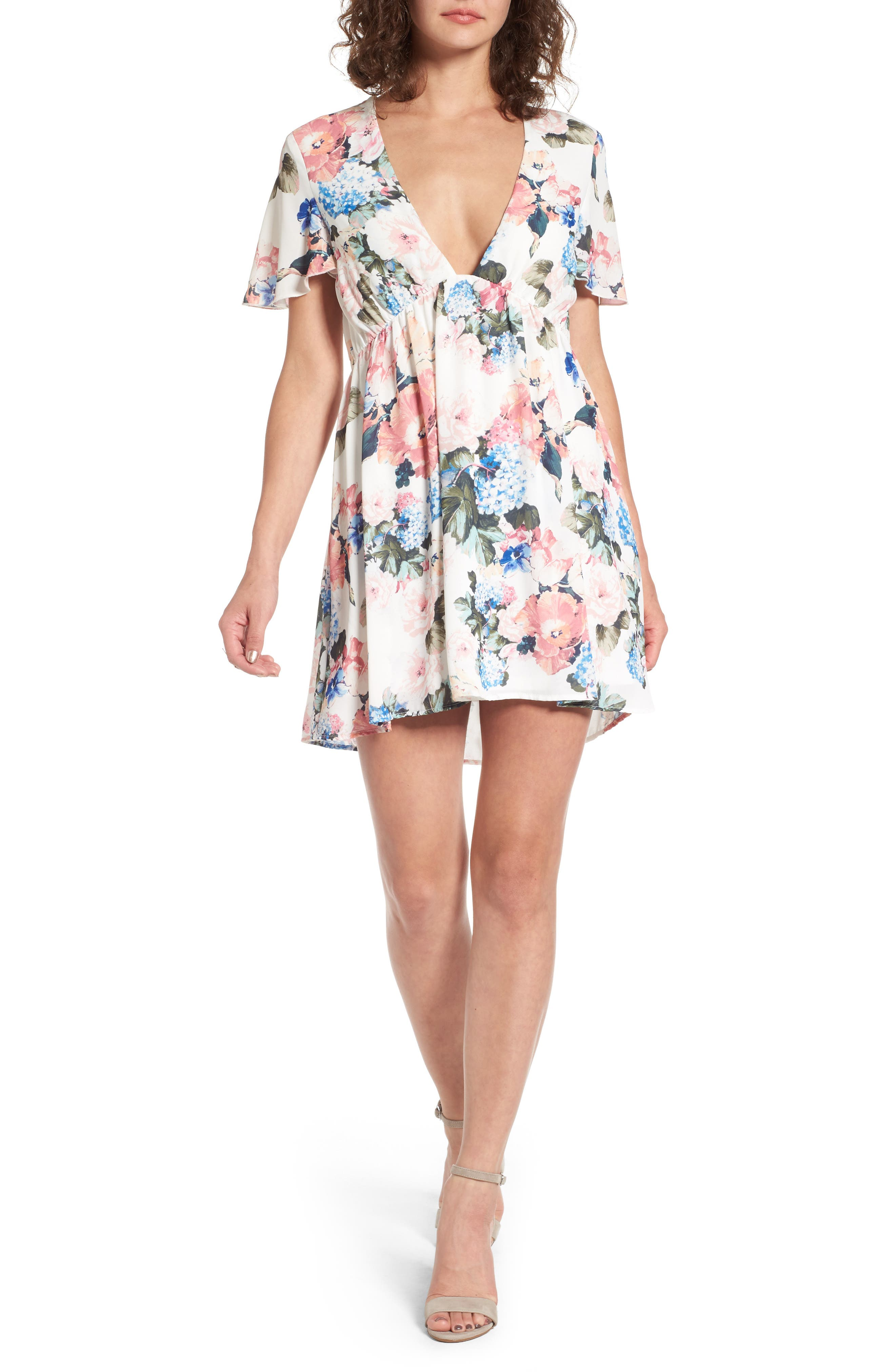 Austin Babydoll Dress,                         Main,                         color, 100