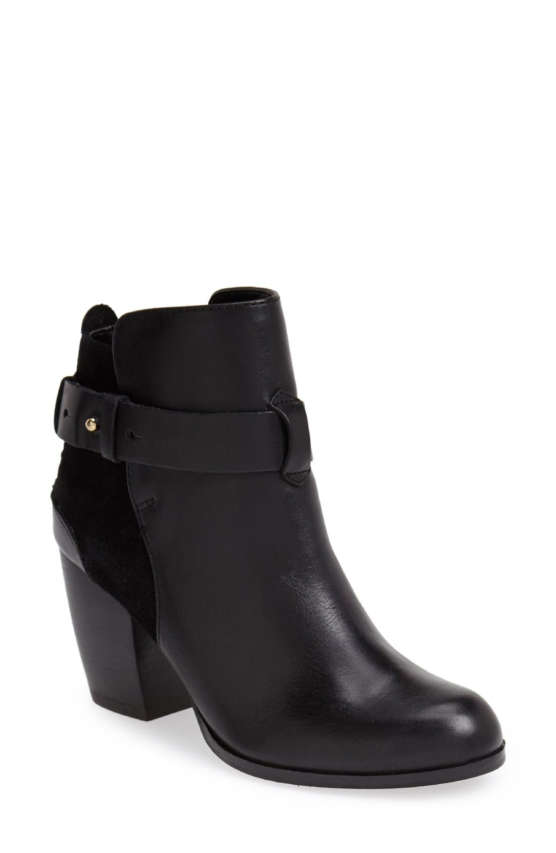'Parmar' Chunky Heel Bootie,                             Main thumbnail 1, color,                             002
