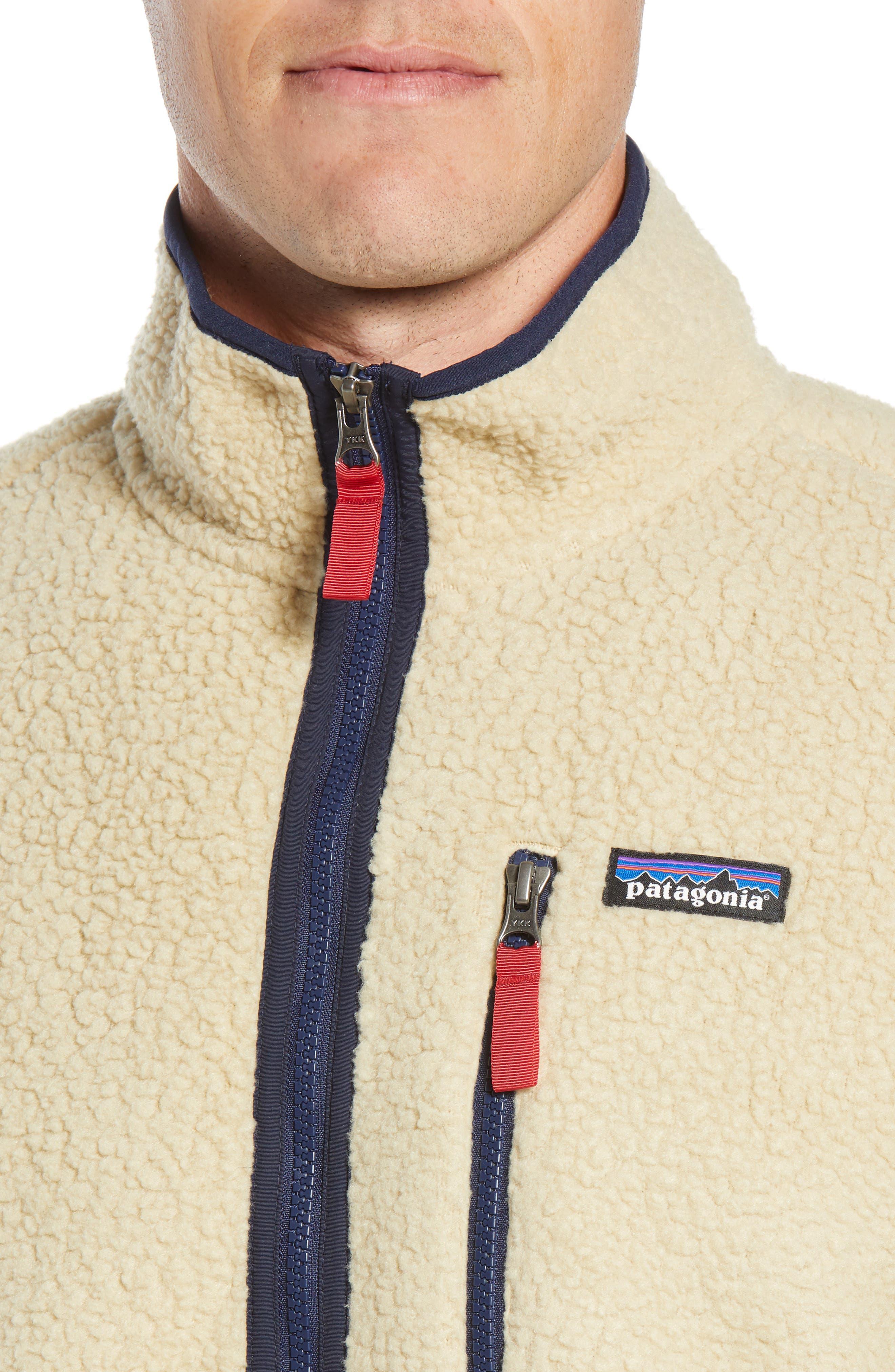 Retro Pile Fleece Zip Jacket,                             Alternate thumbnail 4, color,                             EL CAP KHAKI