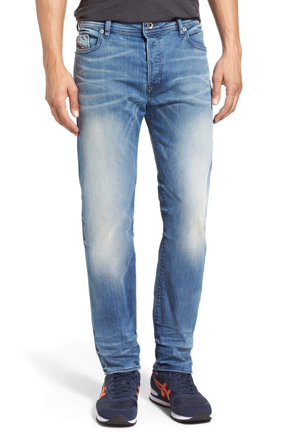 'Buster' Slim Straight Fit Jeans,                             Main thumbnail 1, color,                             400