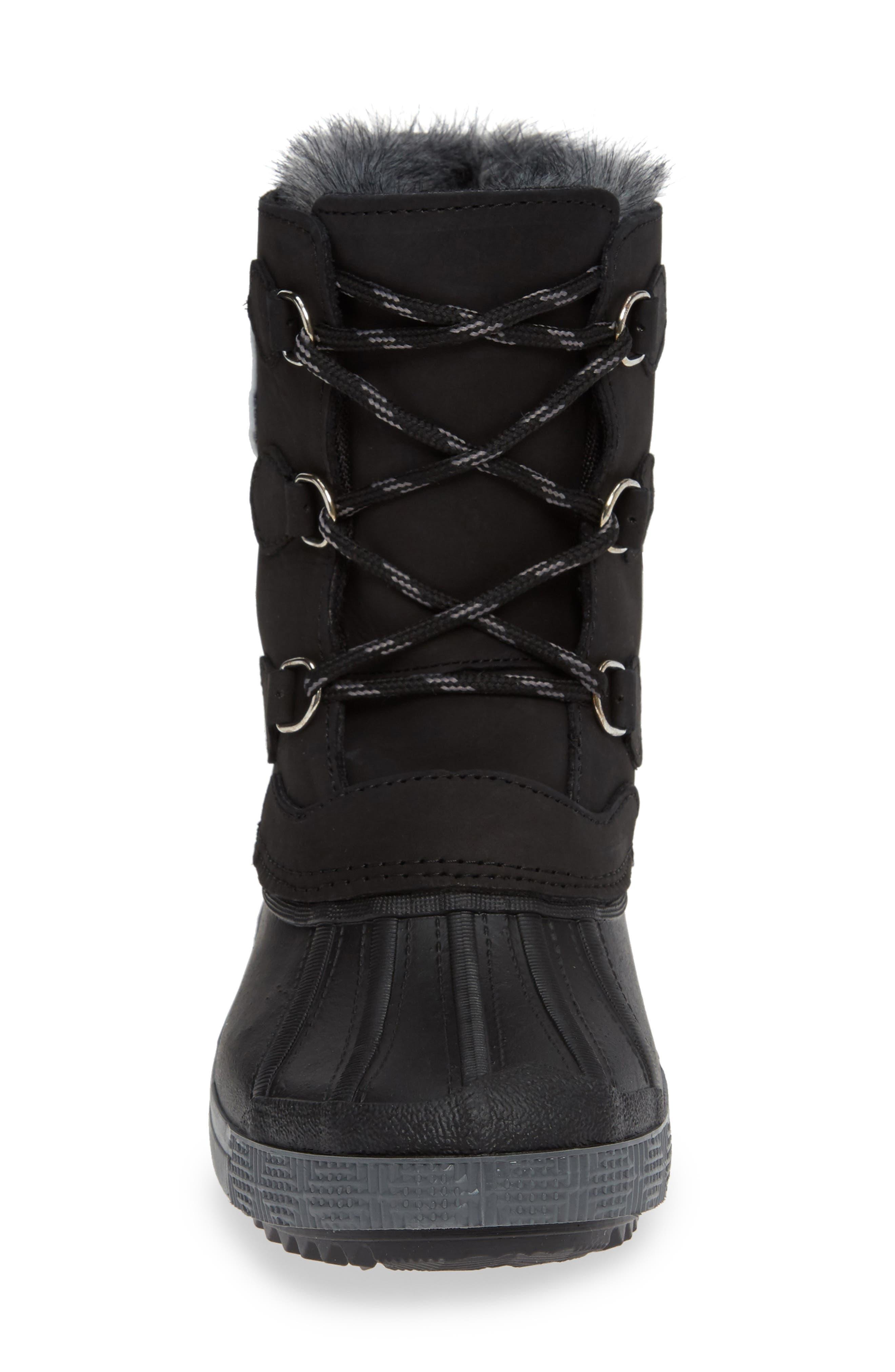 Cali Waterproof Insulated Boot,                             Alternate thumbnail 4, color,                             BROWN/ BLACK