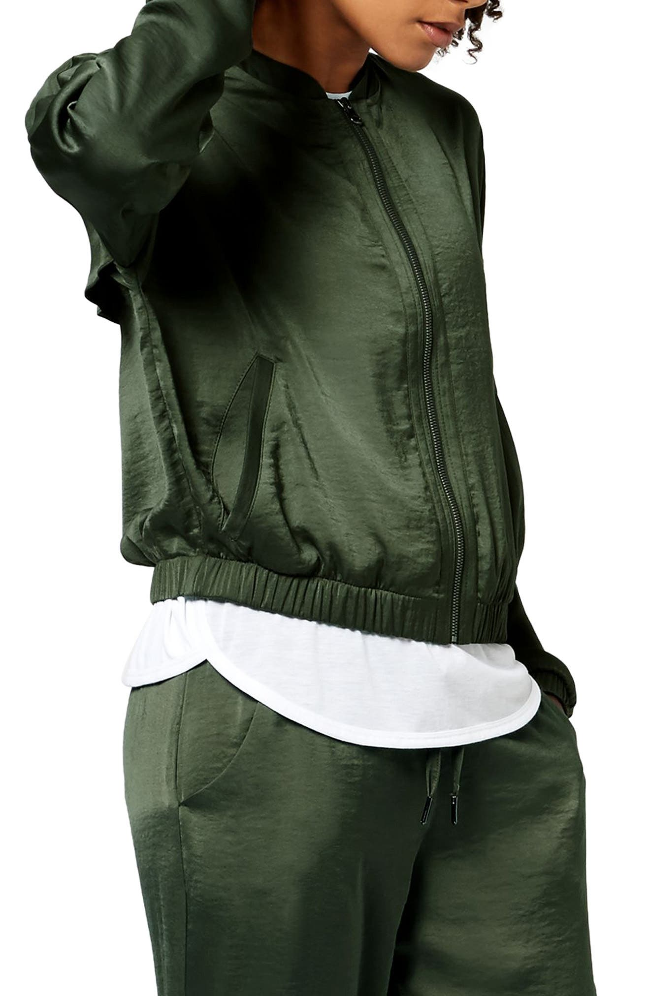 Cargo Luxe Jacket,                             Alternate thumbnail 3, color,                             OLIVE