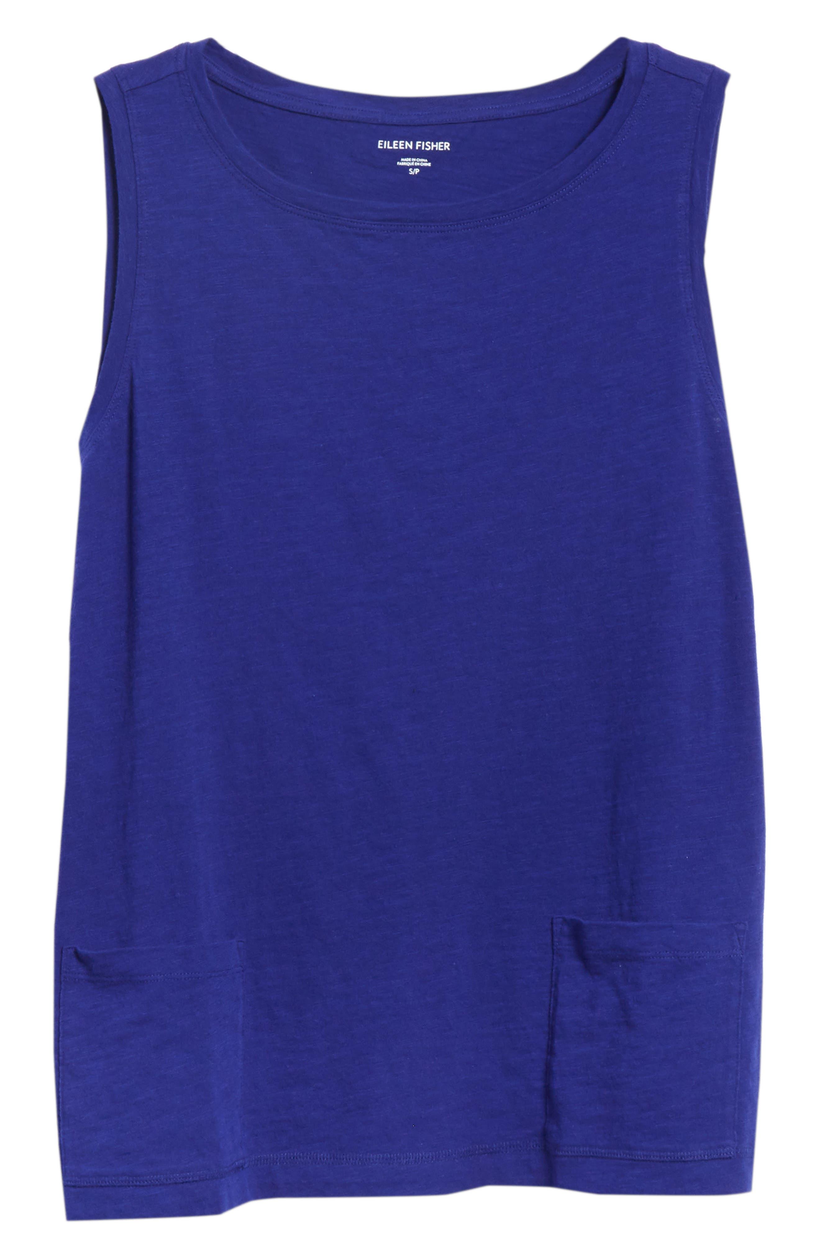 Short Organic Cotton Shell,                             Alternate thumbnail 6, color,                             BLUE VIOLET