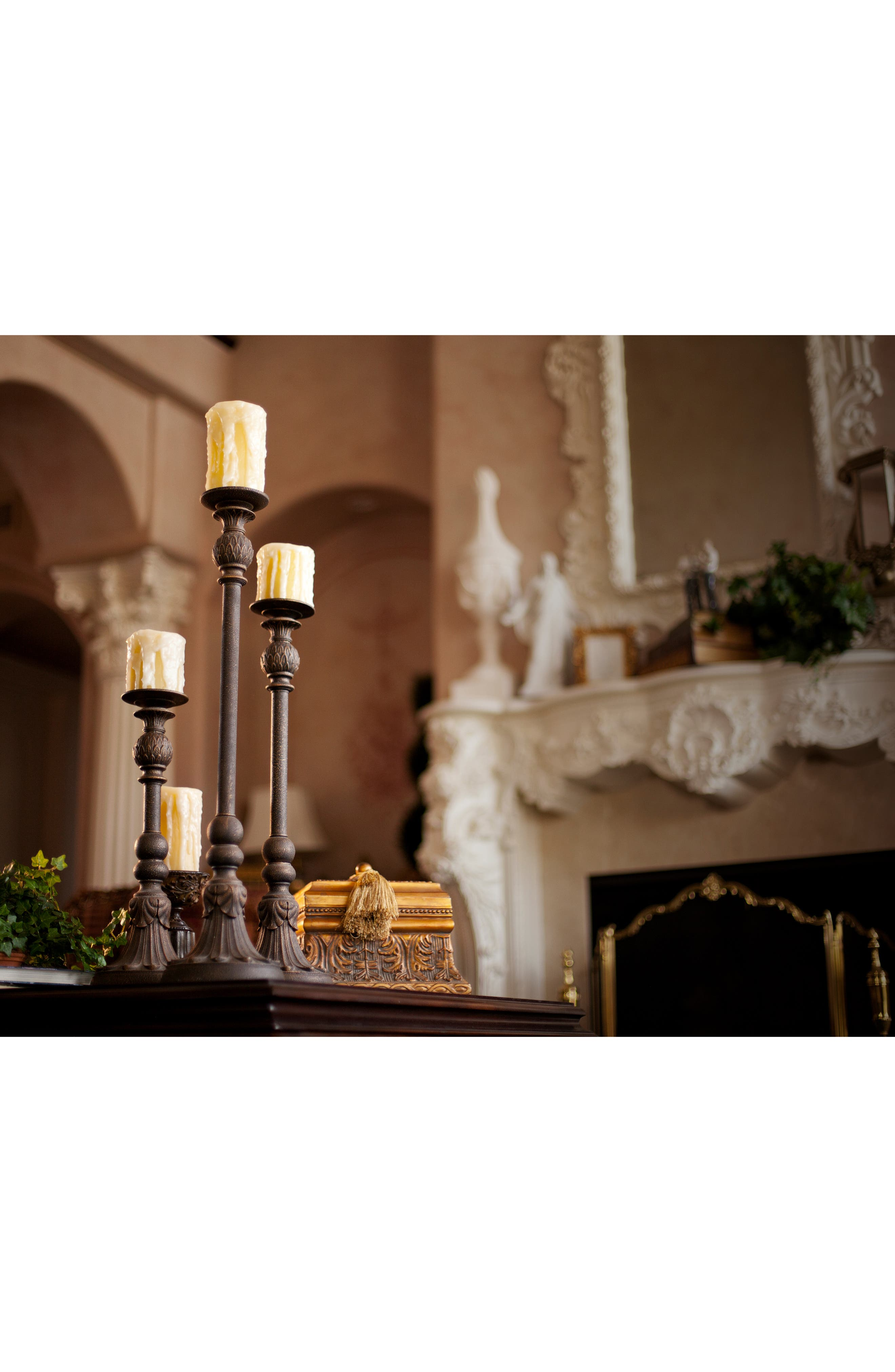 Scented Heavy Drip Flameless Pillar Candle,                             Alternate thumbnail 2, color,