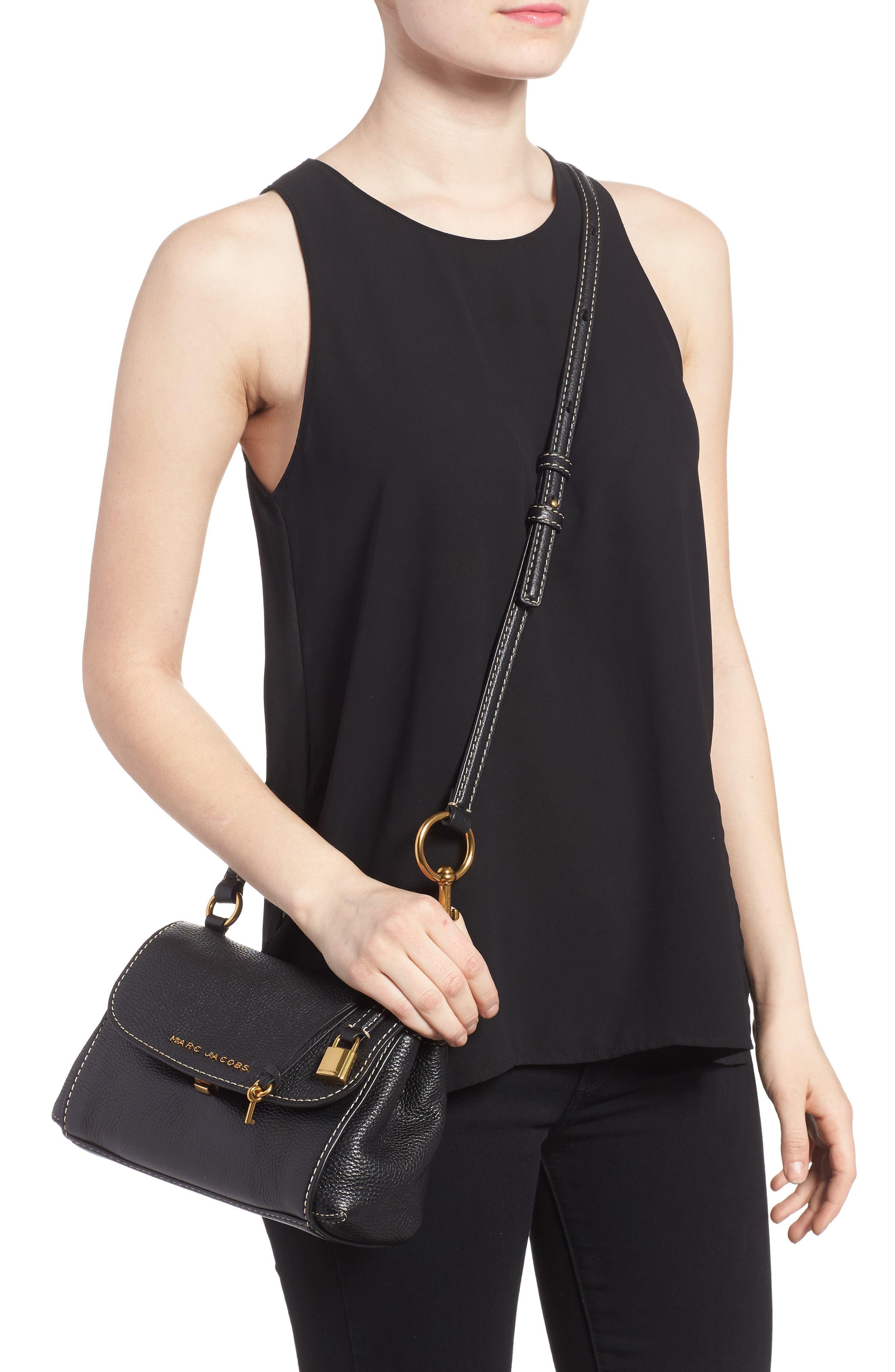 Mini The Boho Grind Leather Shoulder Bag,                             Alternate thumbnail 2, color,                             014