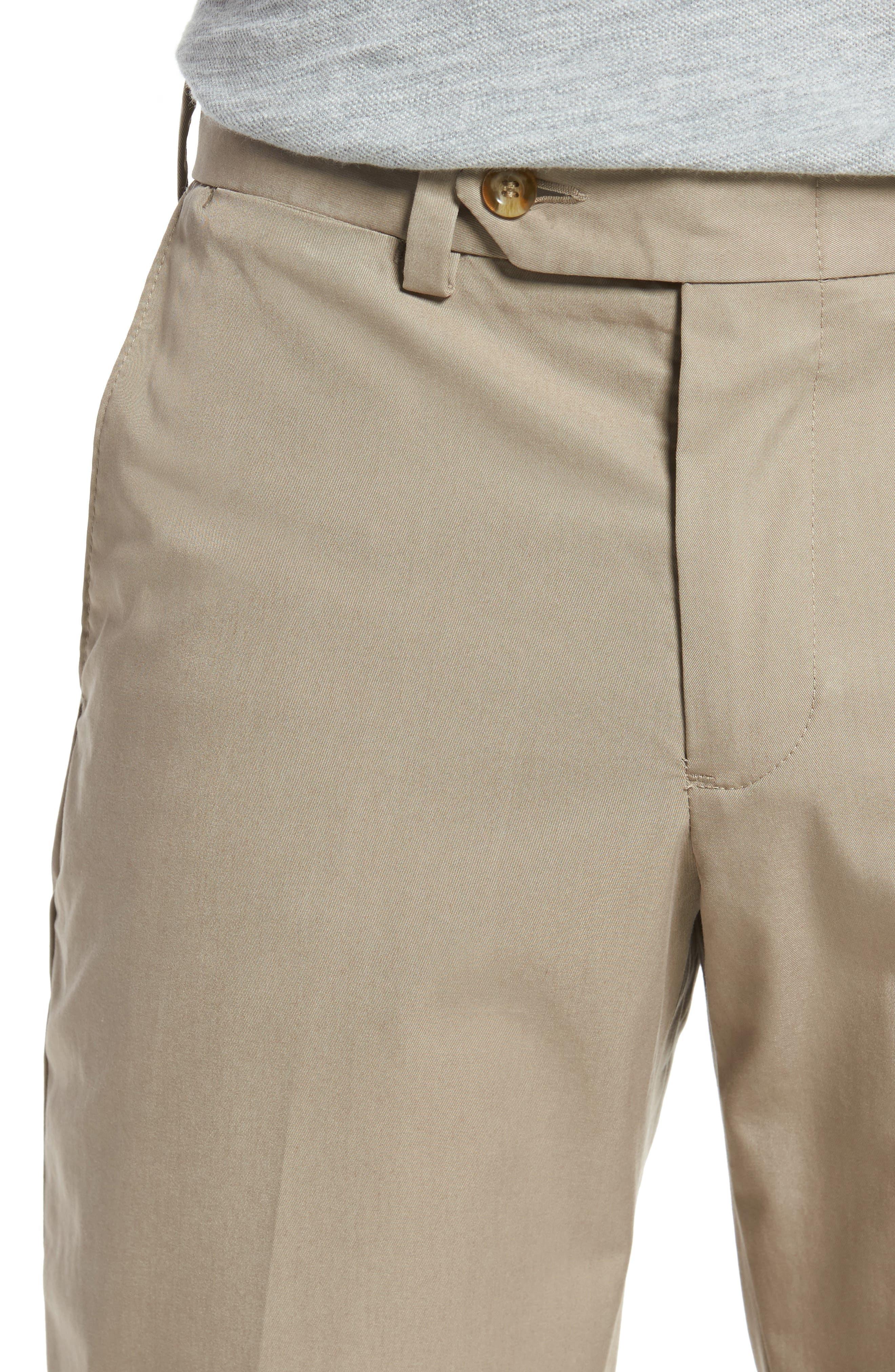 Straight Fit Travel Twill Pants,                             Alternate thumbnail 4, color,                             KHAKI