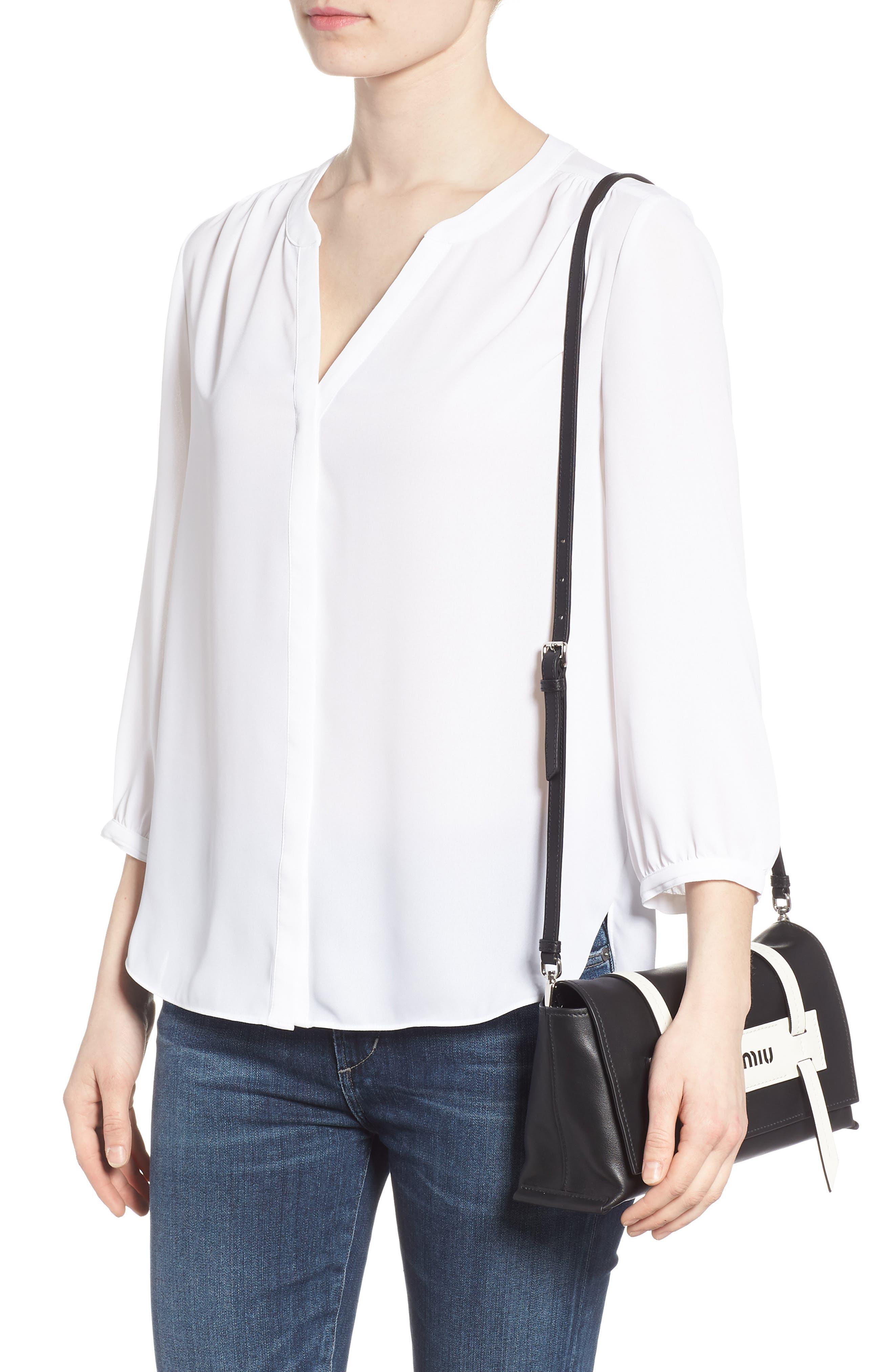 Small Grace Calfskin Shoulder Bag,                             Alternate thumbnail 2, color,                             NERO/ BIANCO