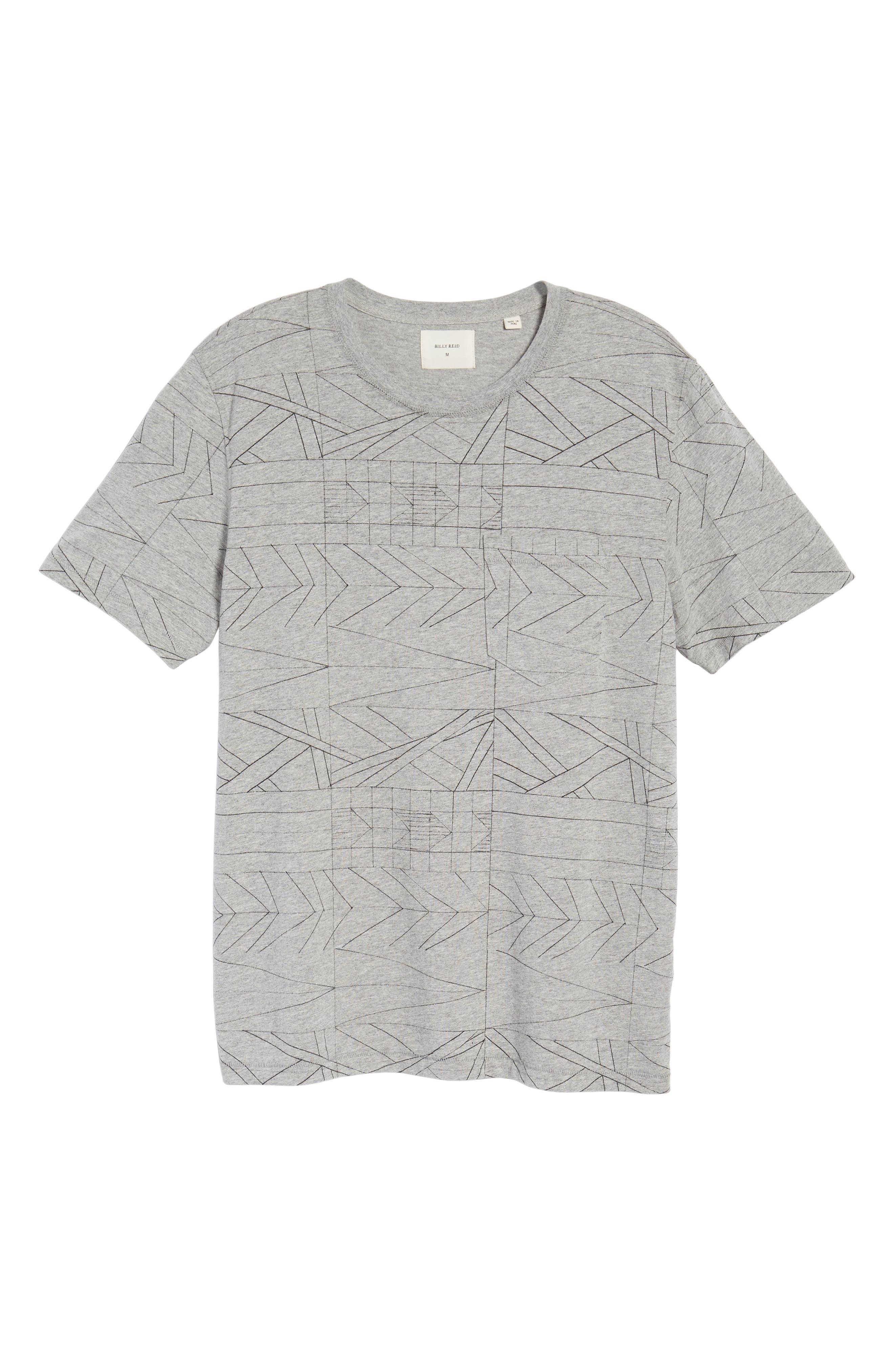 Fracture Line Crewneck T-Shirt,                             Alternate thumbnail 6, color,                             FRACTURE LINE