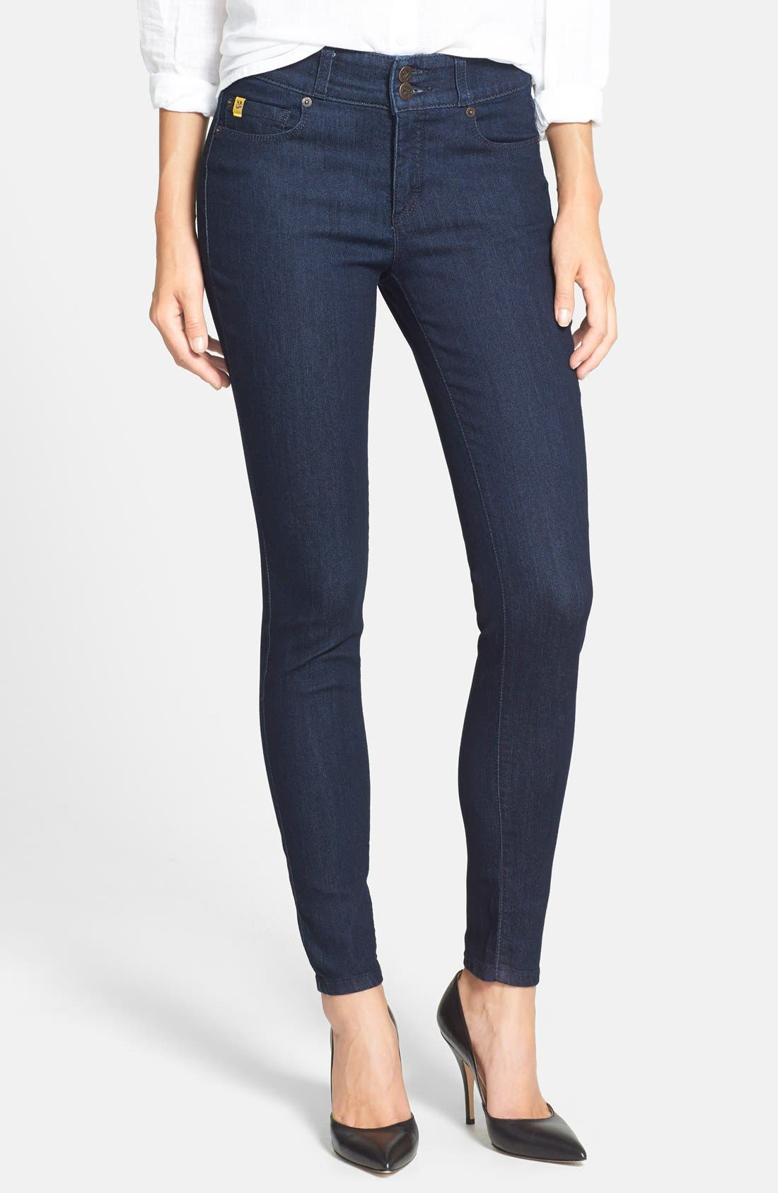 Wide Waistband Skinny Jeans,                             Main thumbnail 1, color,                             410