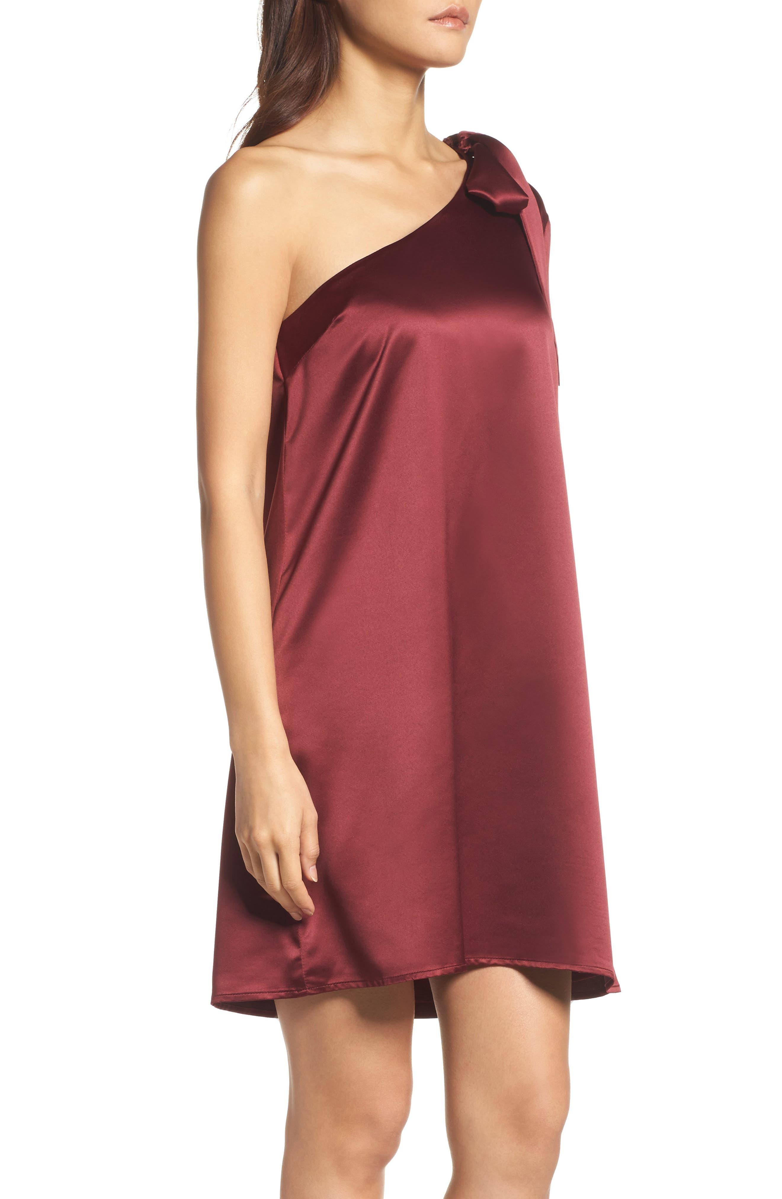 One-Sleeve Shift Dress,                             Alternate thumbnail 6, color,