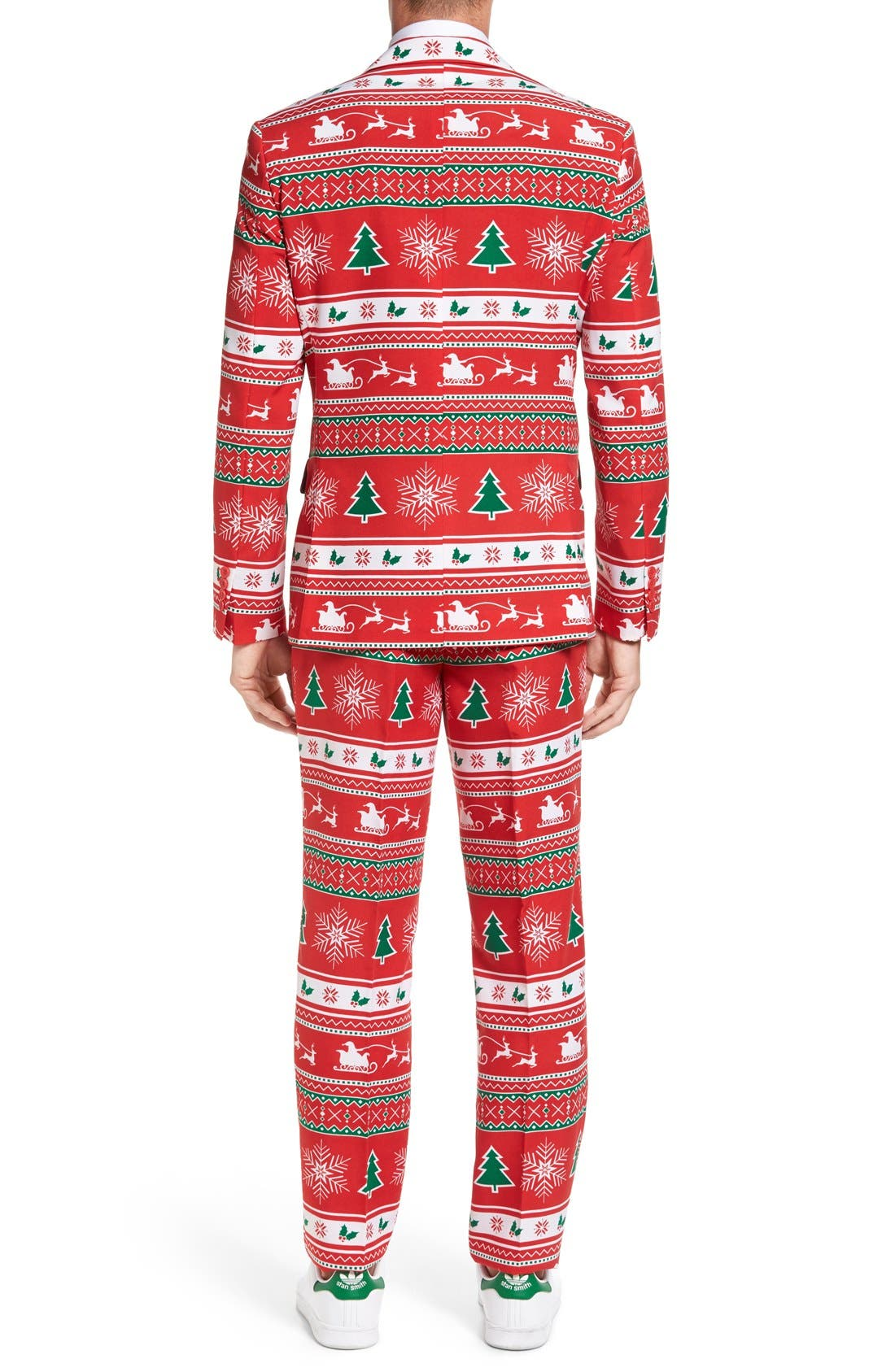 'Winter Wonderland' Trim Fit Two-Piece Suit with Tie,                             Alternate thumbnail 2, color,                             601
