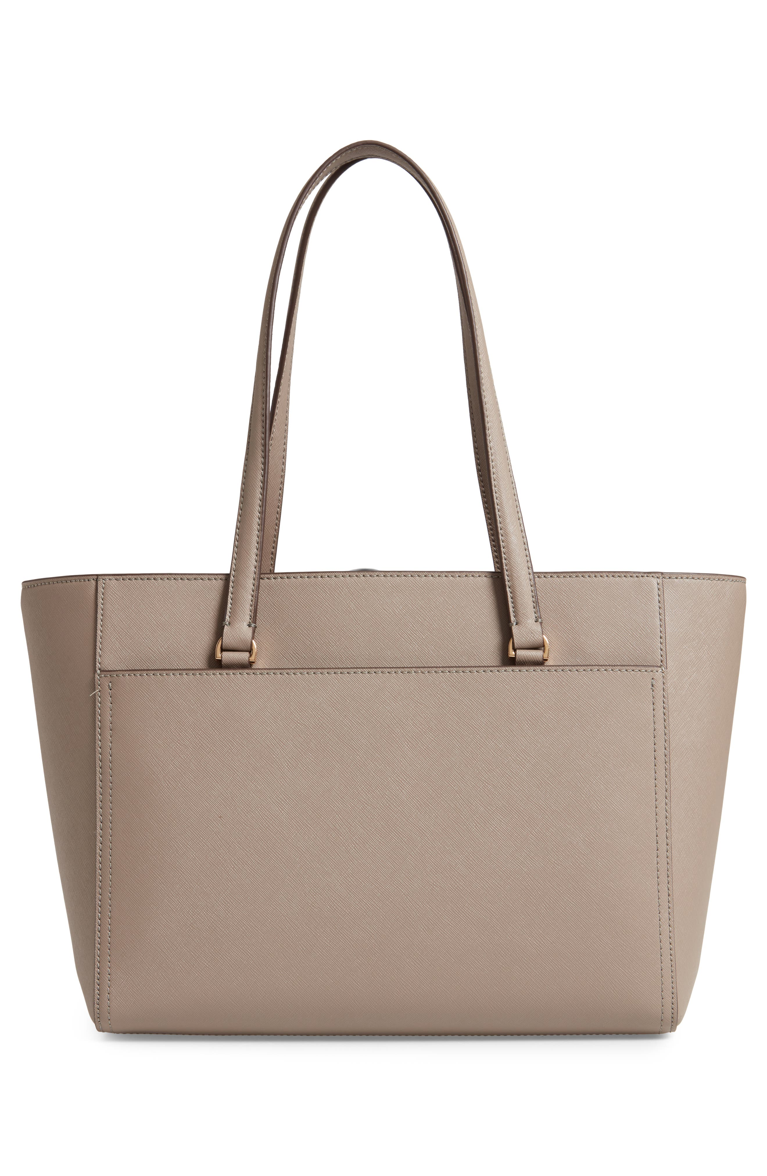 Small Robinson Leather Tote,                             Alternate thumbnail 3, color,                             GRAY HERON