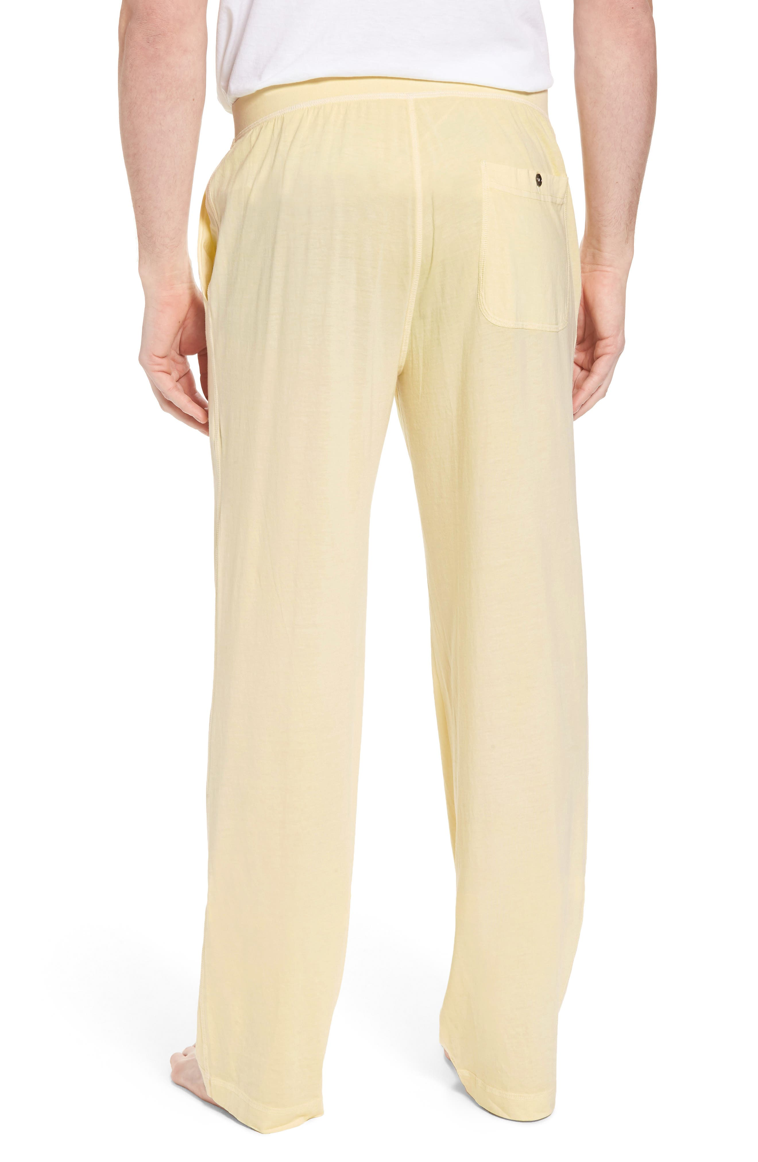 Peruvian Pima Cotton Lounge Pants,                             Alternate thumbnail 2, color,                             YELLOW
