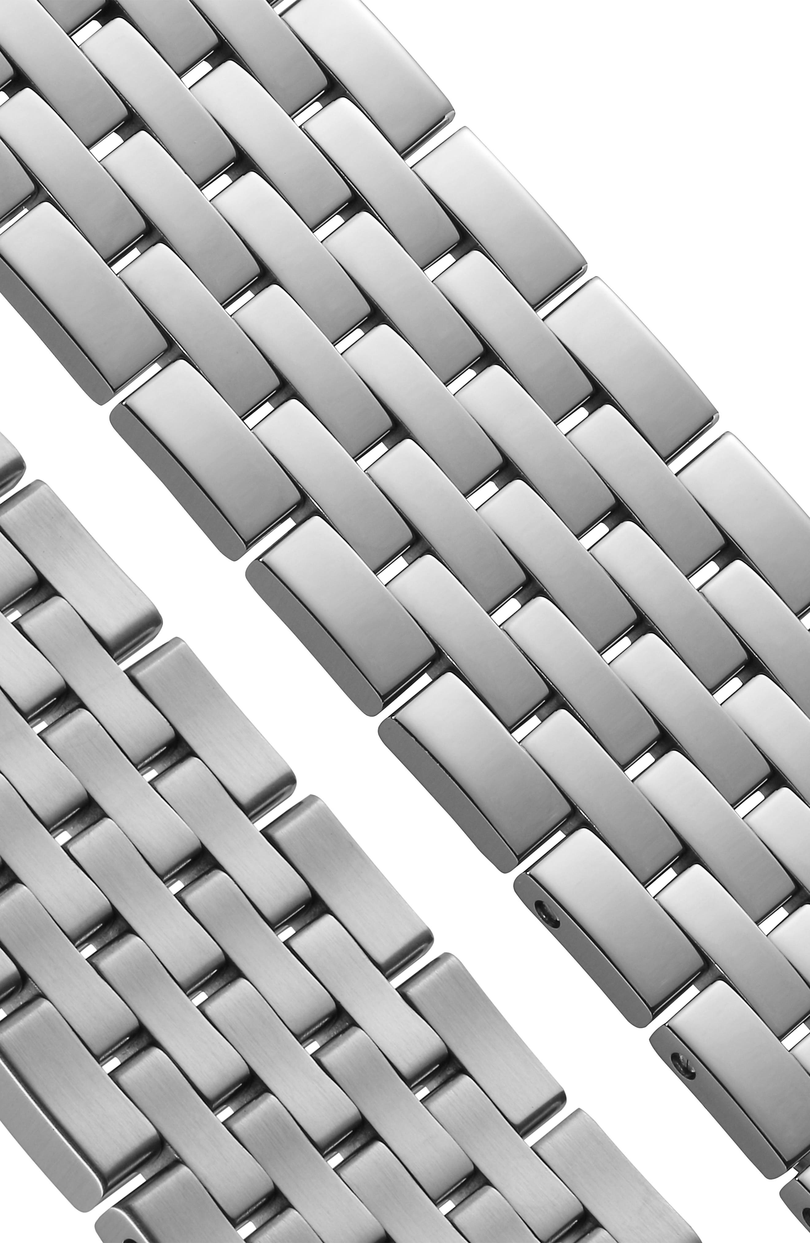 Tradition Bracelet Watch, 42mm,                             Alternate thumbnail 6, color,                             SILVER