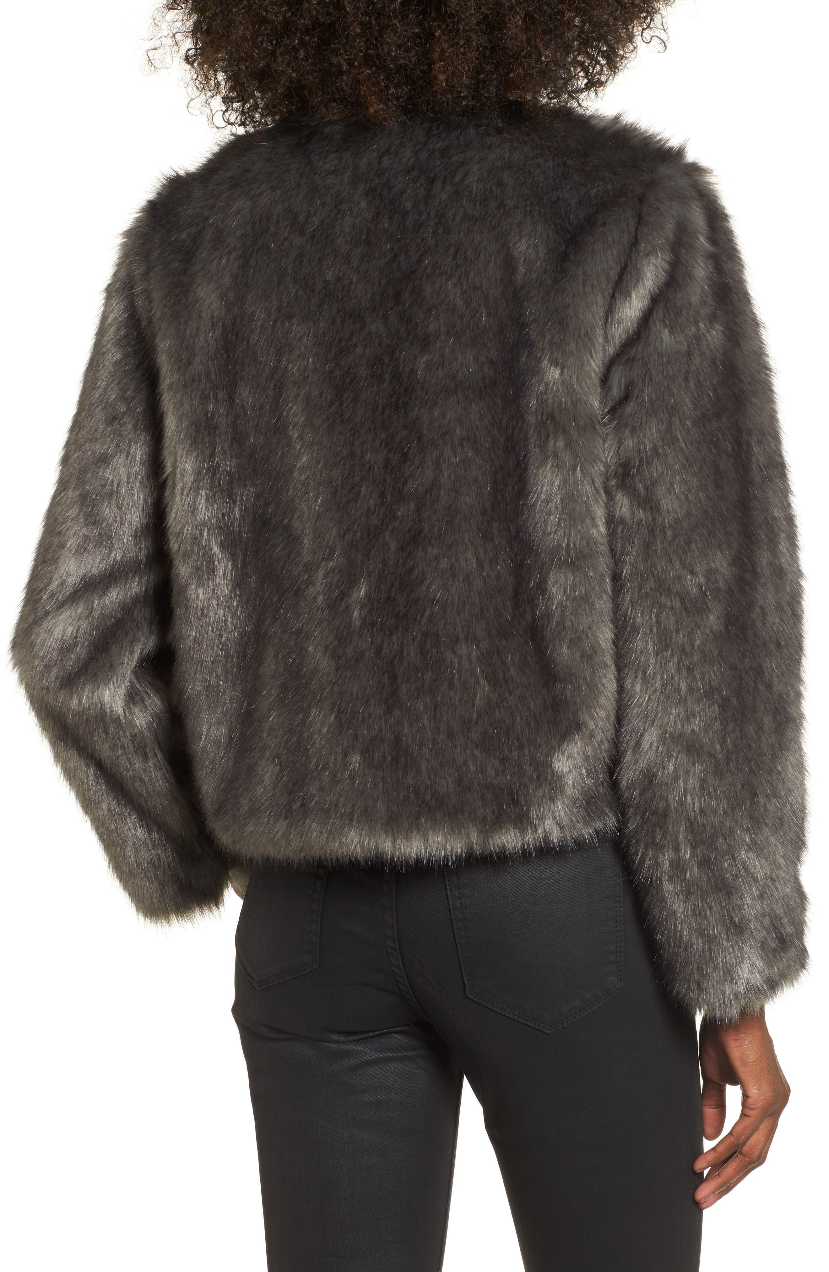 Faux Fur Jacket,                             Alternate thumbnail 2, color,                             020