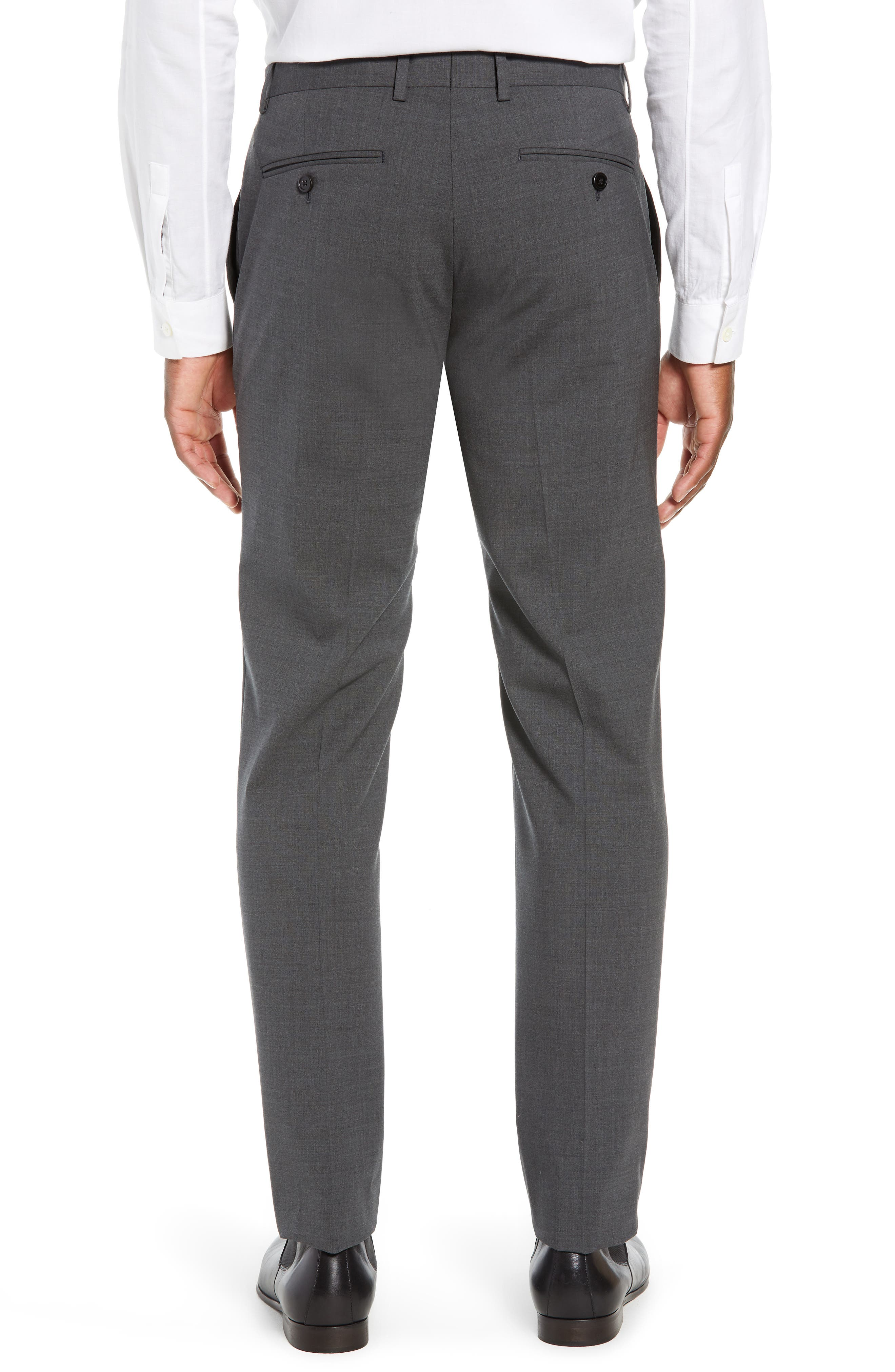 Mayer New Tailor 2 Wool Trousers,                             Alternate thumbnail 2, color,                             CHARCOAL