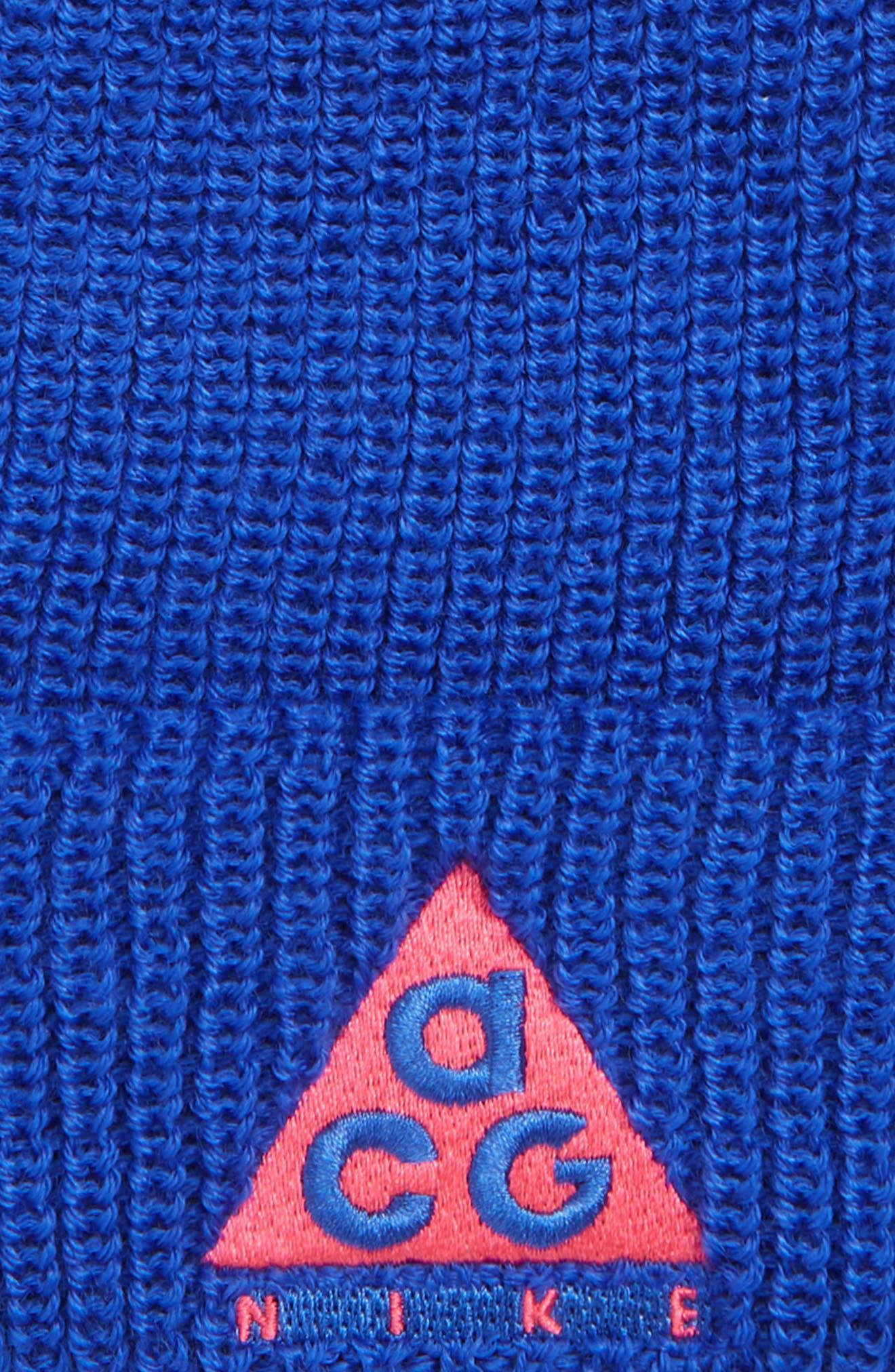 NIKE,                             Sportswear ACG Beanie,                             Alternate thumbnail 2, color,                             RACER BLUE/RUSH PINK