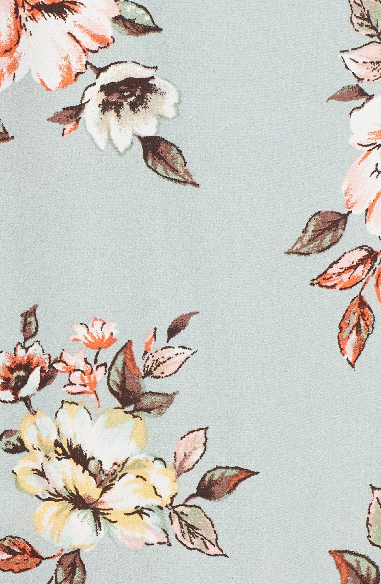 Floral Midi Romper,                             Alternate thumbnail 5, color,                             300