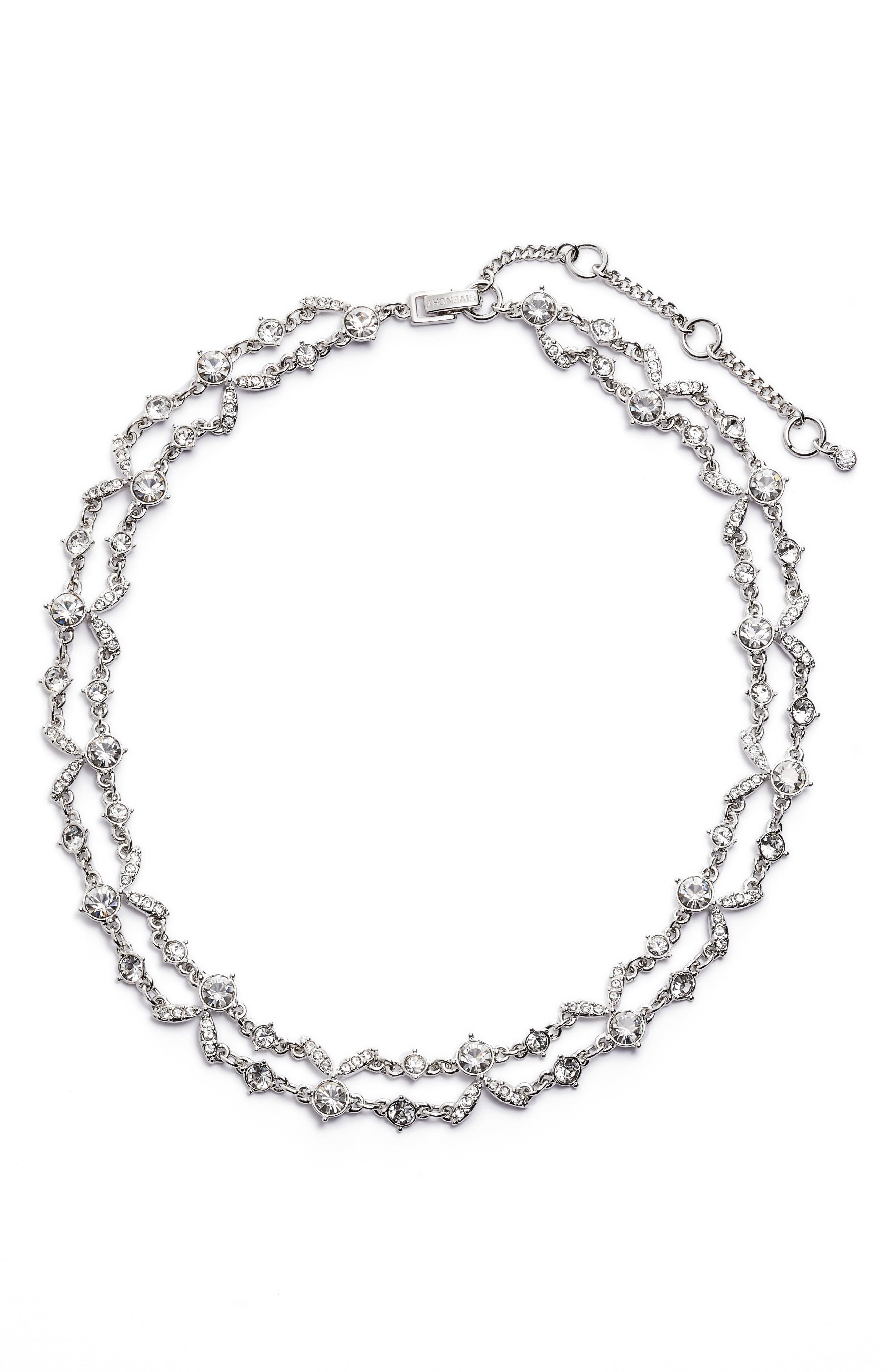 2-Row Crystal Collar Necklace,                         Main,                         color, 040