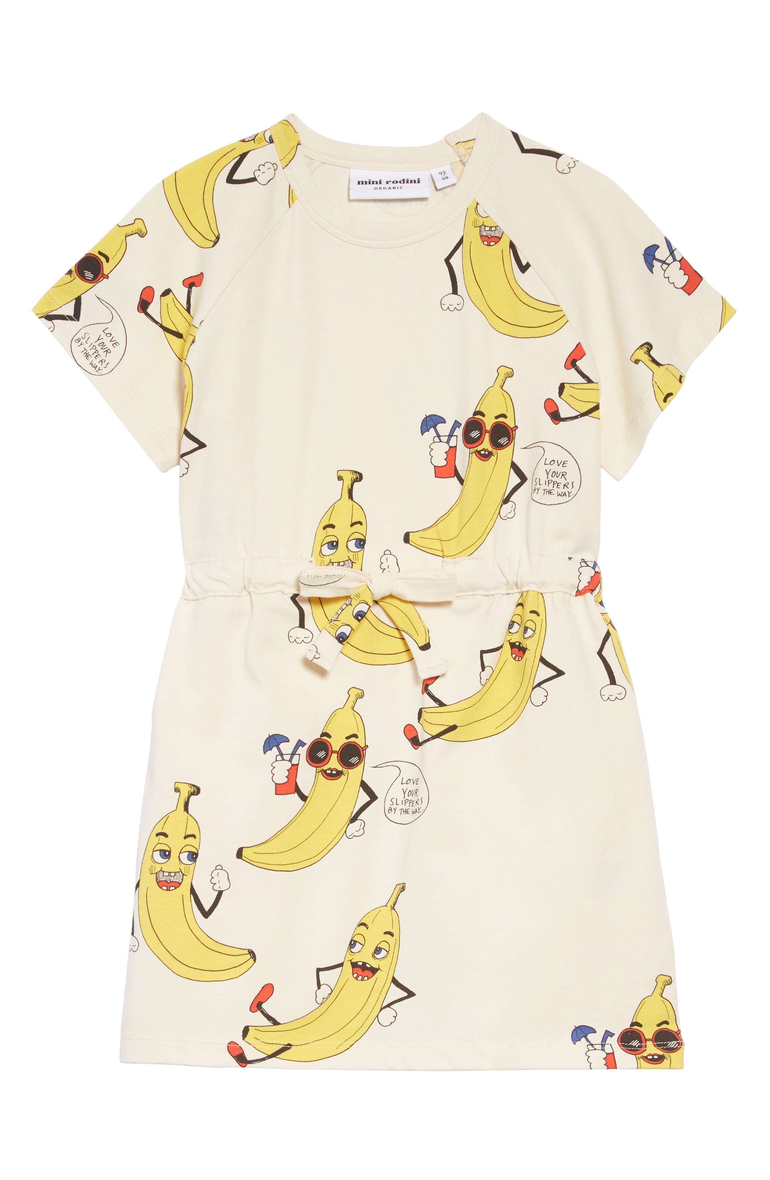 Banana T-Shirt Dress,                             Main thumbnail 1, color,                             OFFWHITE