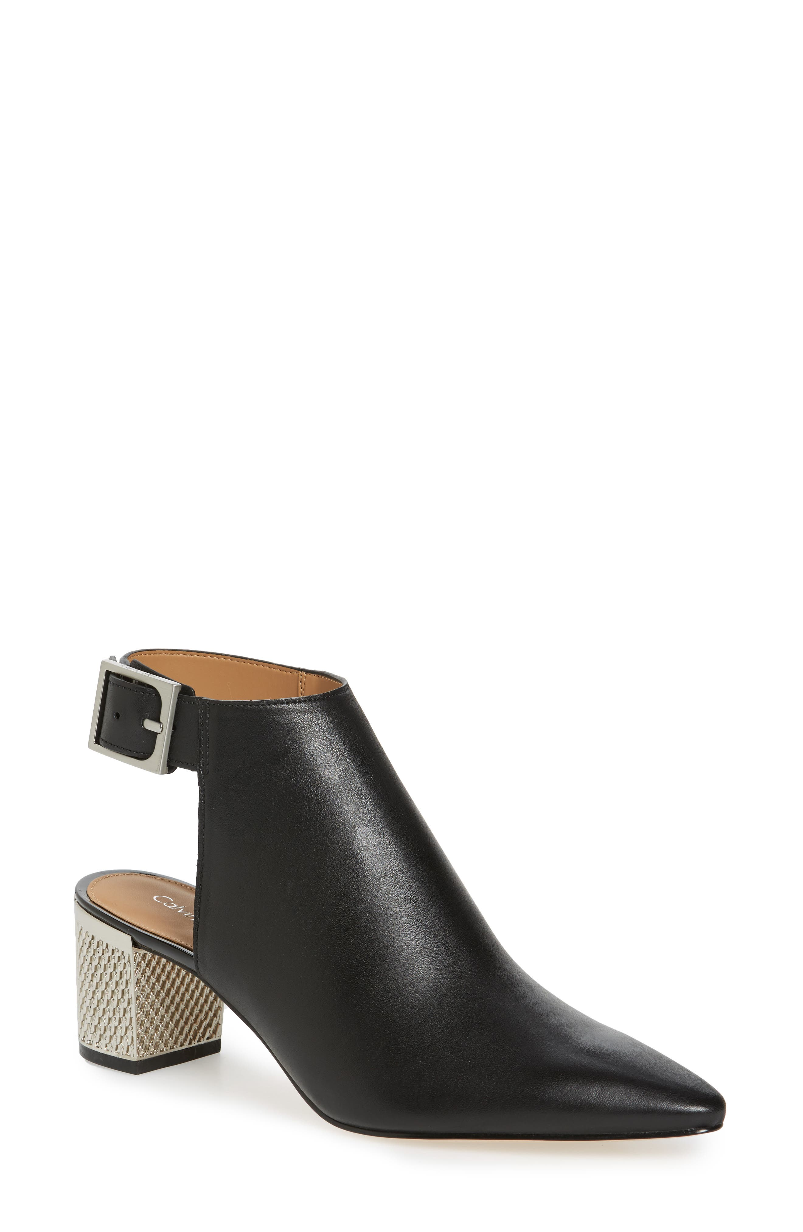 Pointy Toe Bootie,                             Main thumbnail 1, color,                             001