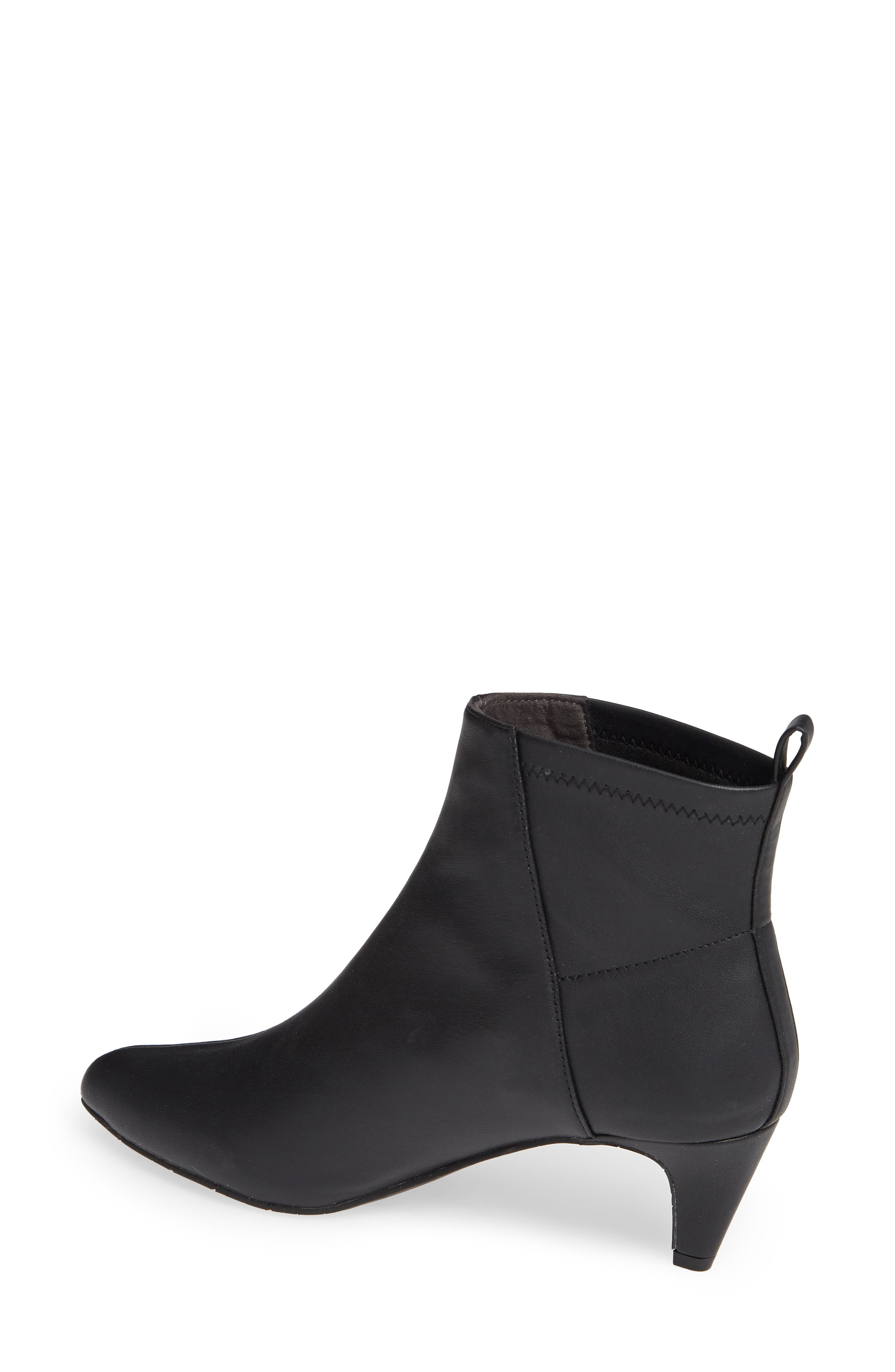 Millimeter Pointy Toe Bootie,                             Alternate thumbnail 2, color,                             BLACK STRETCH