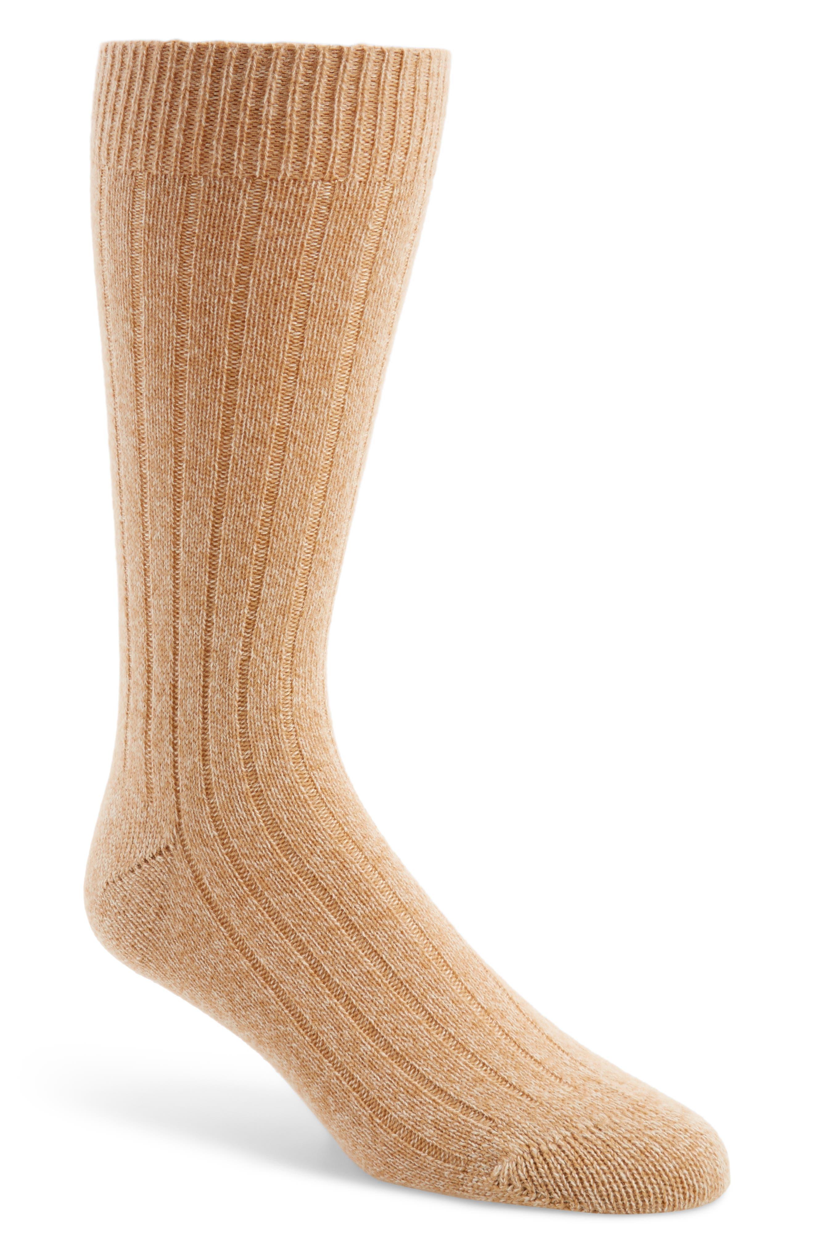 'Waddington' Cashmere Blend Mid Calf Socks,                             Main thumbnail 1, color,