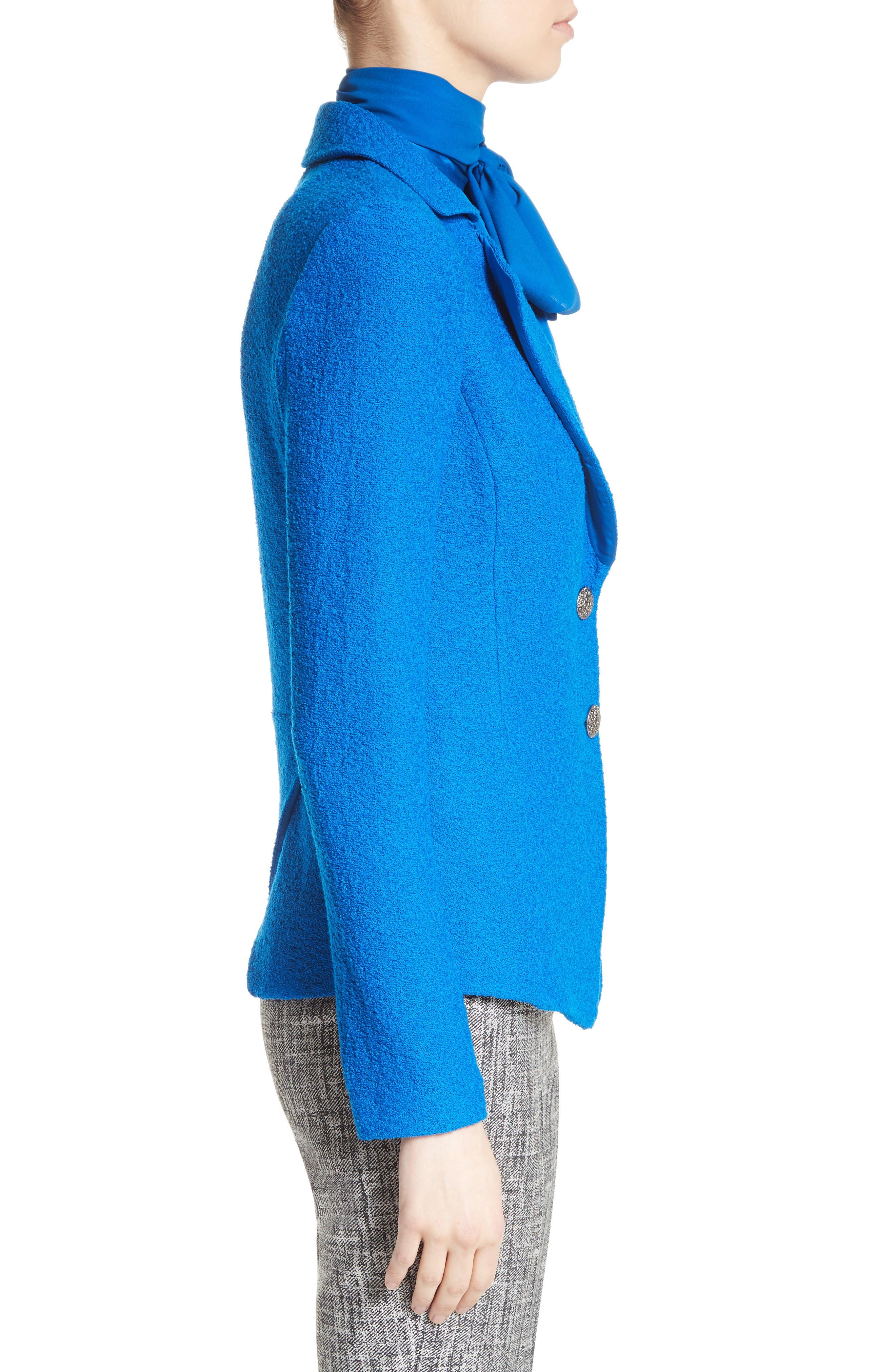 Clair Knit Peplum Jacket,                             Alternate thumbnail 4, color,