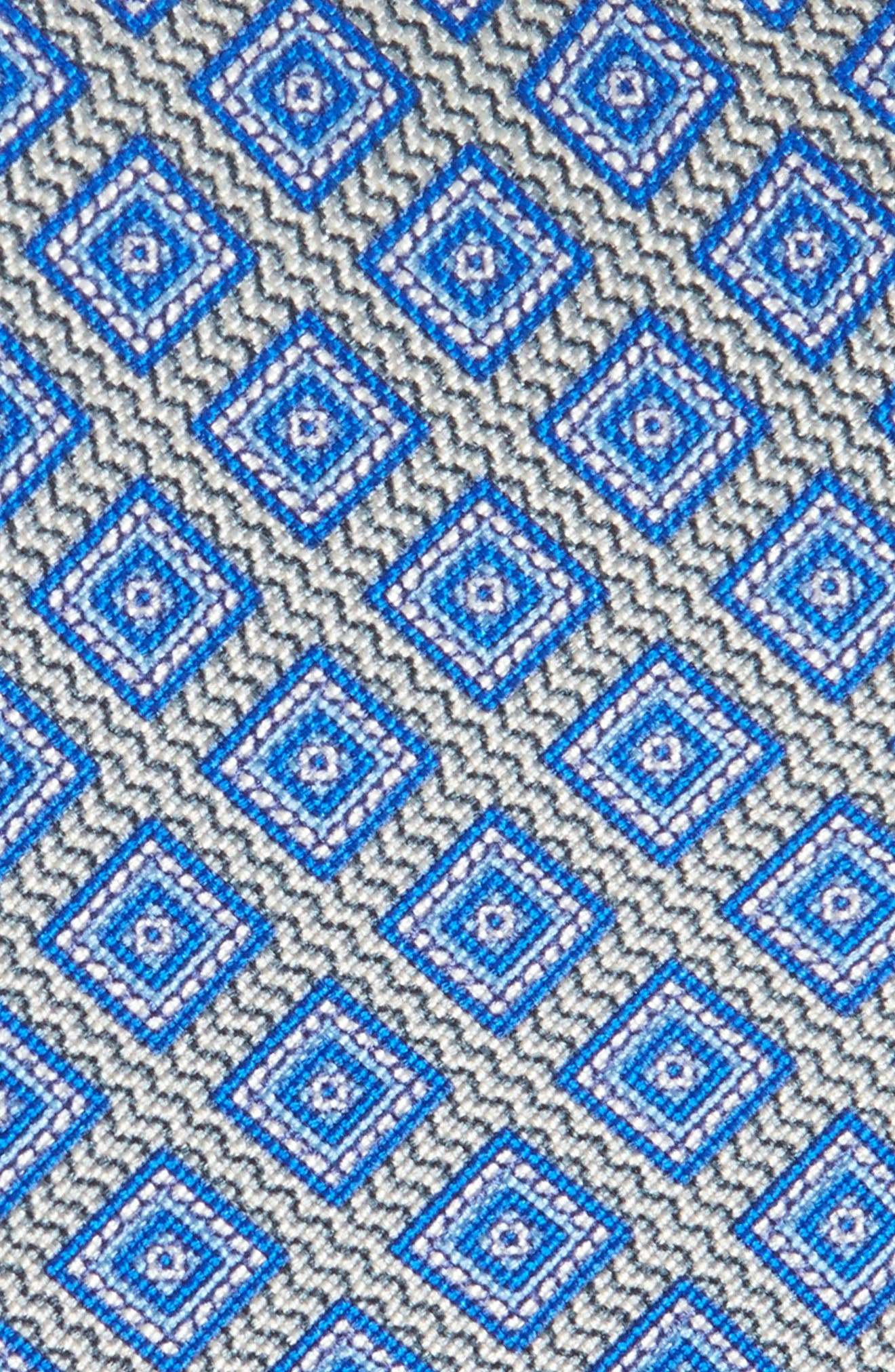 Geometric Silk Tie,                             Alternate thumbnail 2, color,                             020