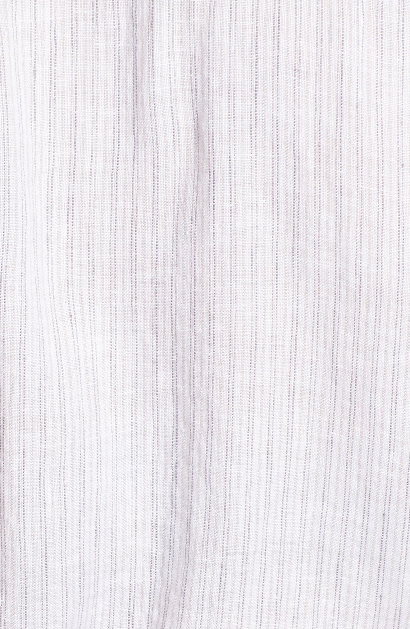 Stripe Linen Shirtdress,                             Alternate thumbnail 5, color,                             053